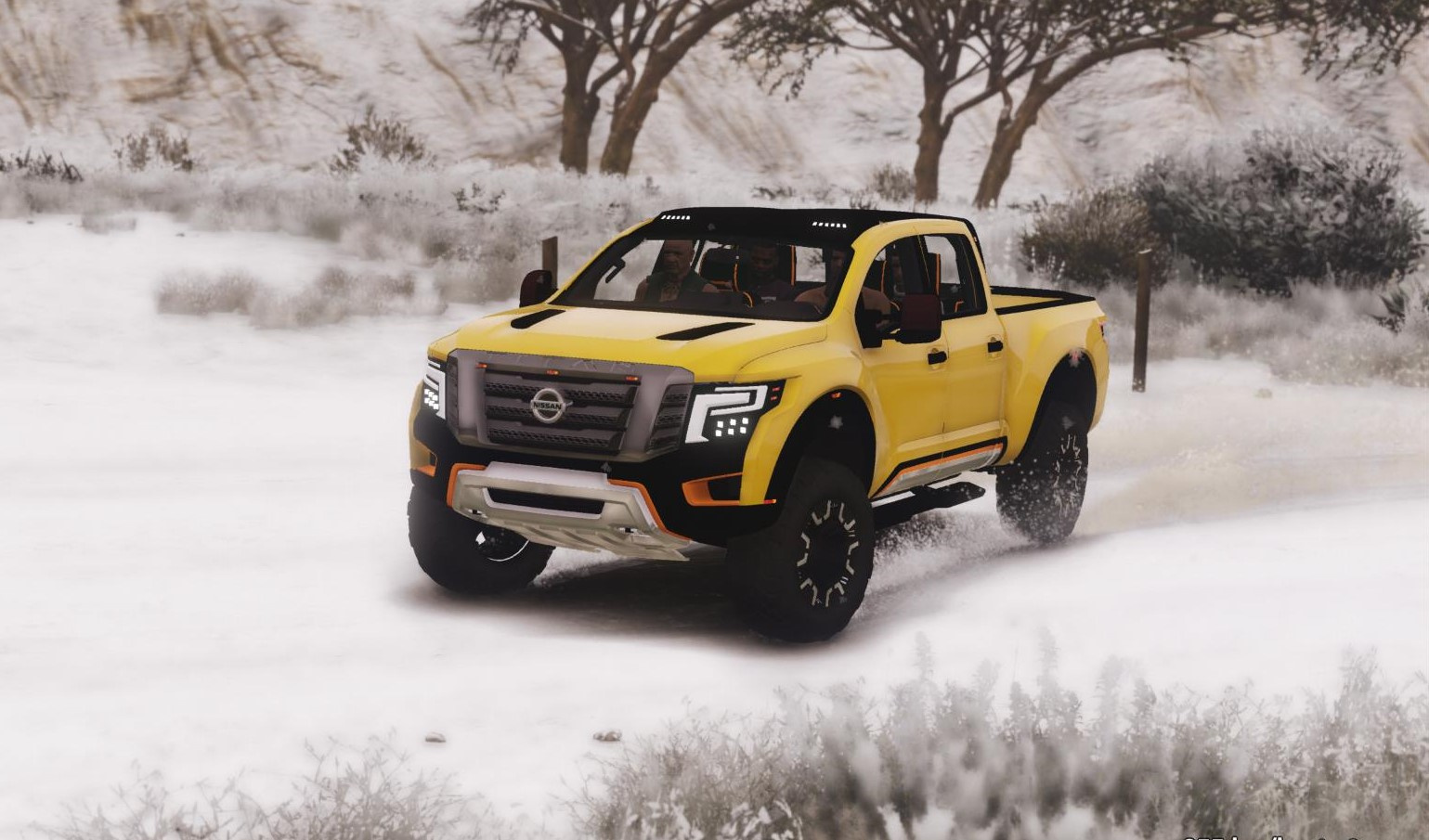 nissan titan warrior 2017 add on replace livery. Black Bedroom Furniture Sets. Home Design Ideas