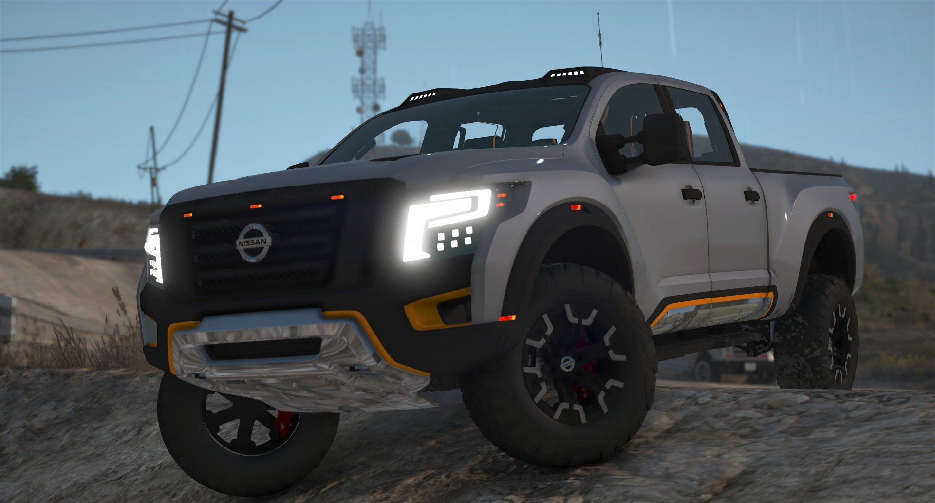 nissan titan warrior 2017 add on replace livery extras template tuning dirt gta5. Black Bedroom Furniture Sets. Home Design Ideas