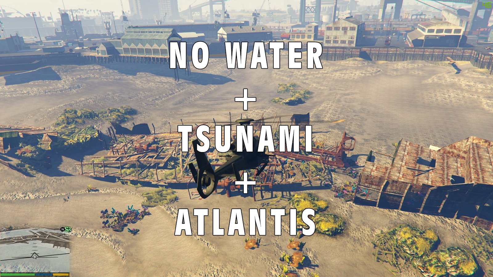 No Water + Tsunami + Atlantis Mod - GTA5-Mods com