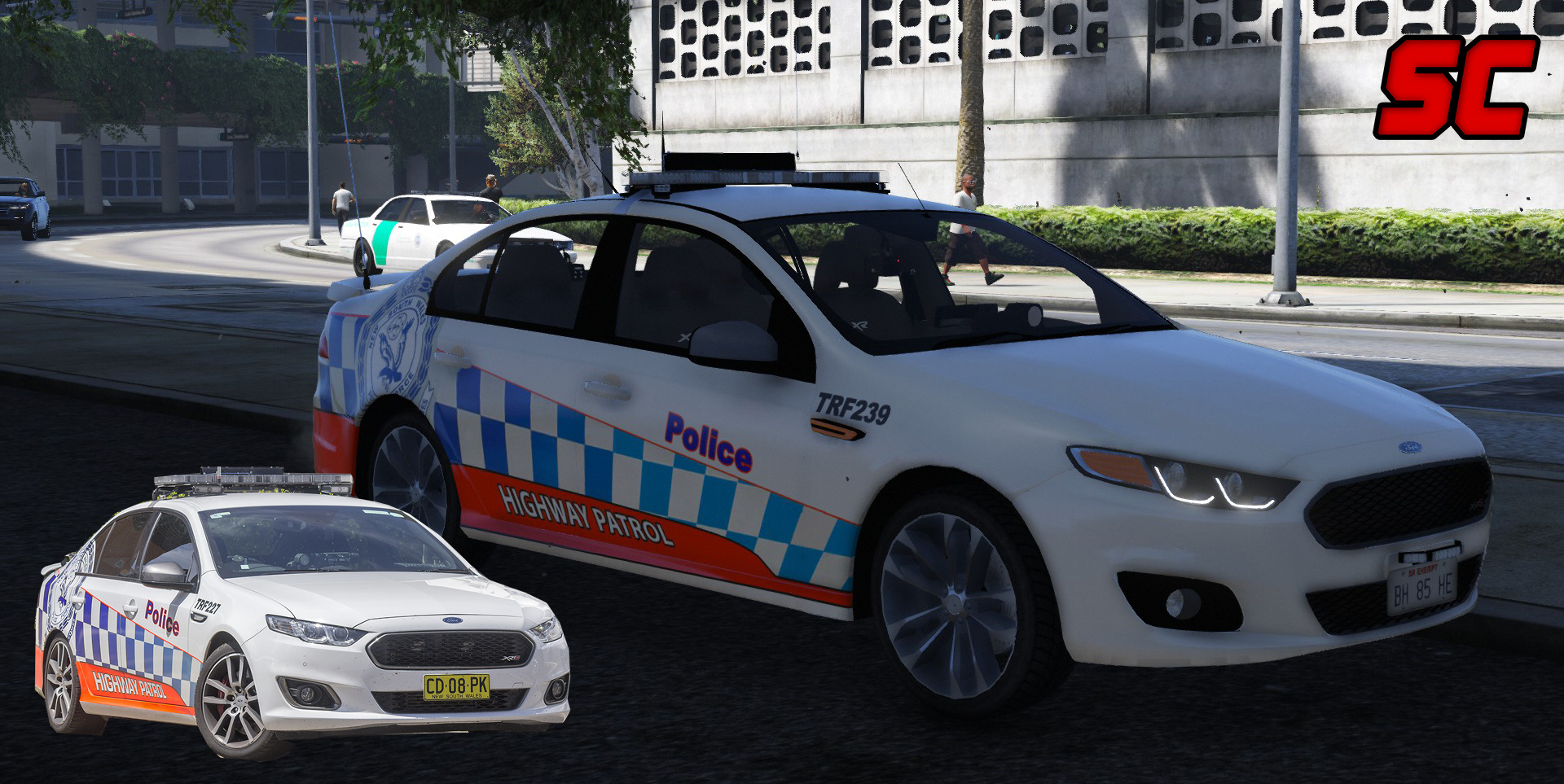 NSW Police Skin Pack for Ford Falcon FGX - GTA5-Mods com