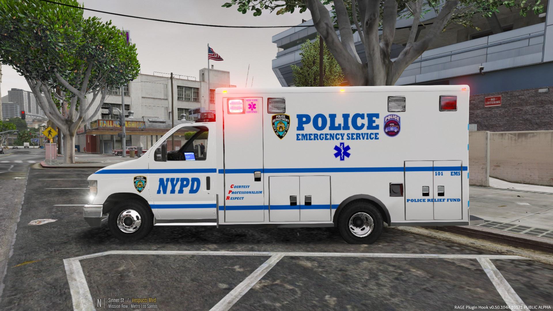 nypd esu ems e 450 ambulance gta5. Black Bedroom Furniture Sets. Home Design Ideas