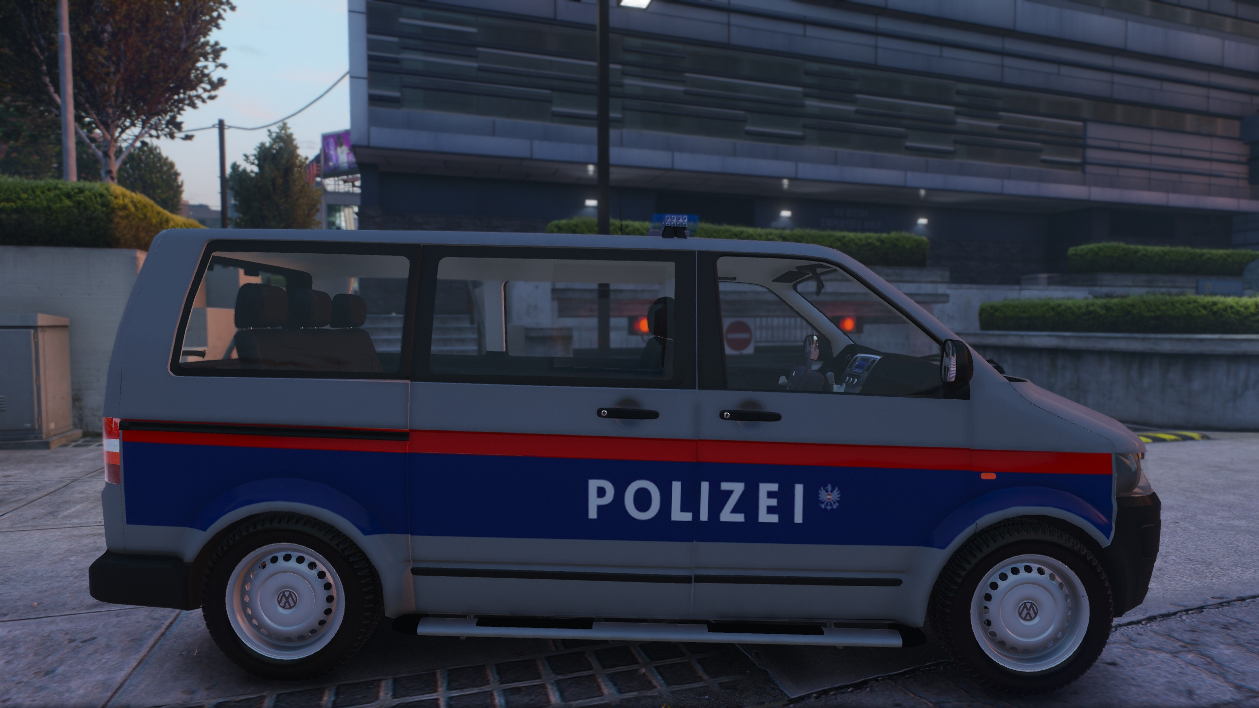 sterreich polizei volkswagen t5 transporter gta5. Black Bedroom Furniture Sets. Home Design Ideas