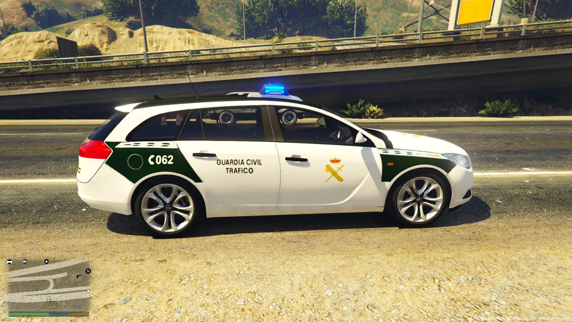 opel insignia guardia civil trafico españa - gta5-mods