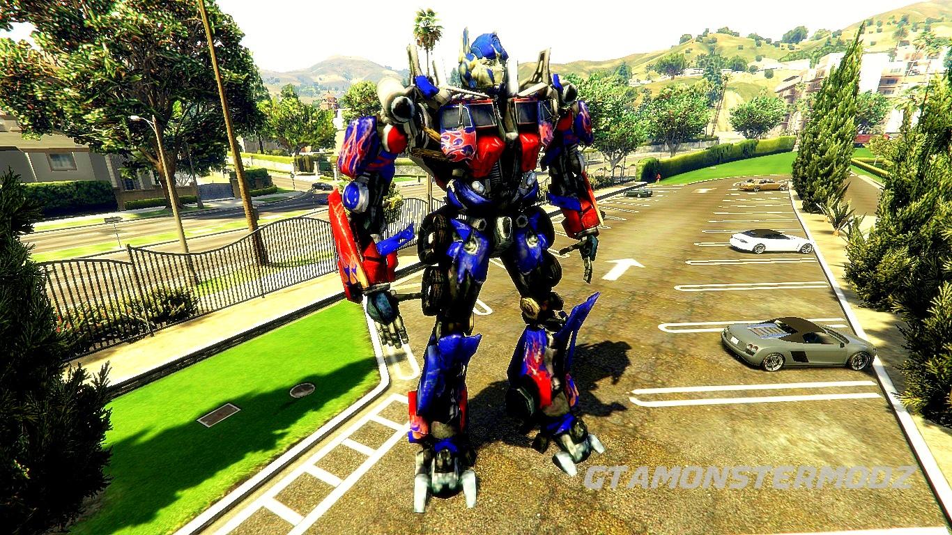 optimus prime [add-on ped] - gta5-mods