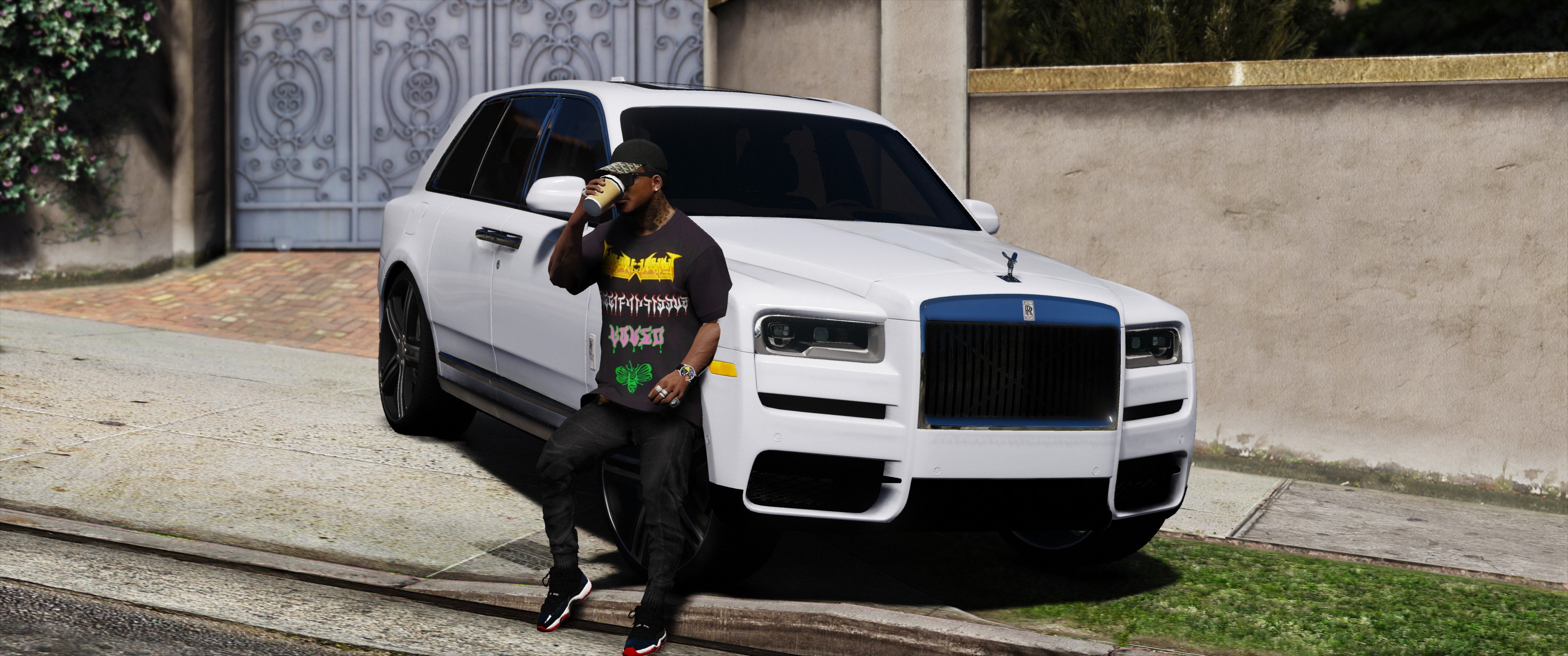 da18c138041c7 Oversize t-shirt with metal Gucci print - GTA5-Mods.com