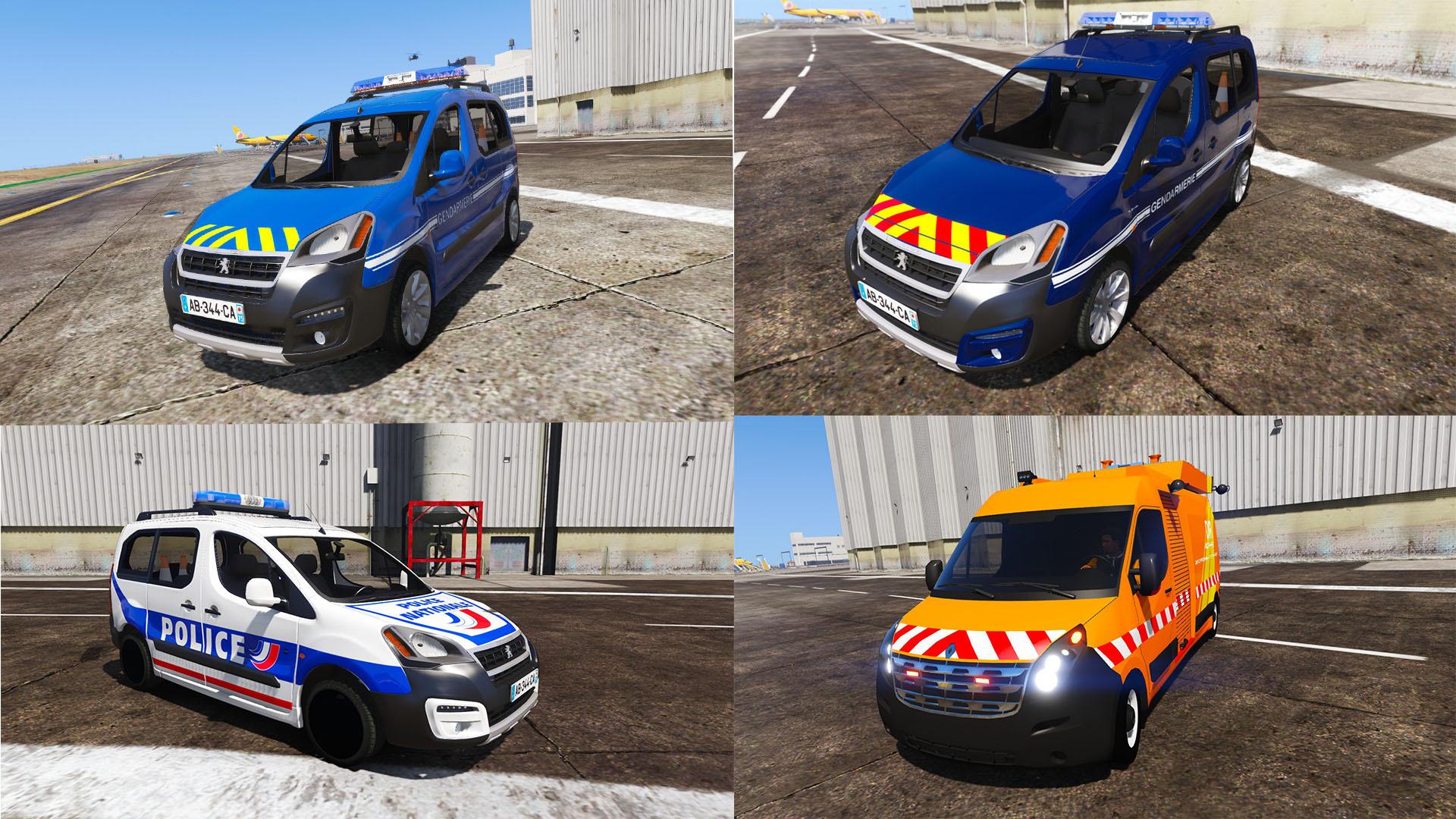 Pack Urgence Peugeot Partner Gendarmerie Police Nationale Renault ...