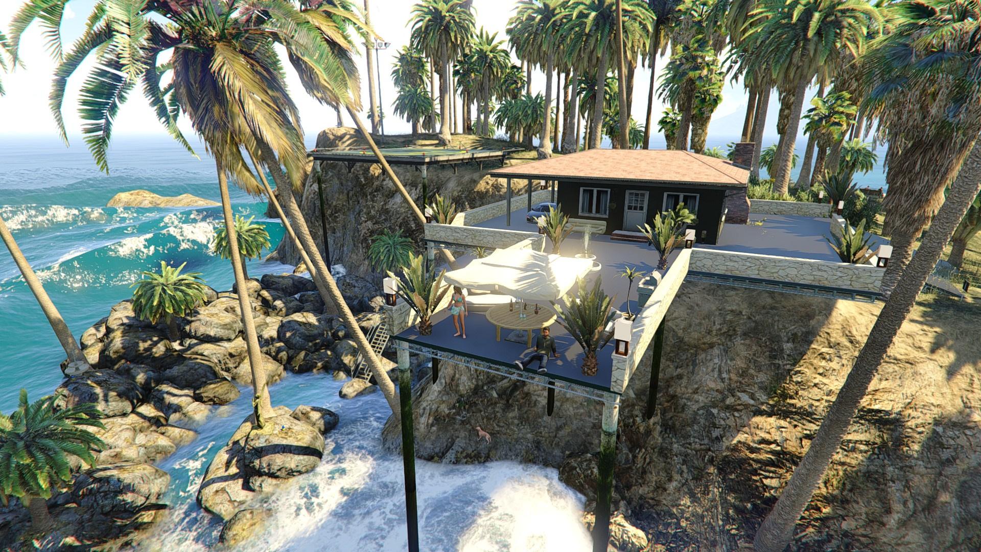 Palm island motorbike challenge gta5 for Whats a terrace house