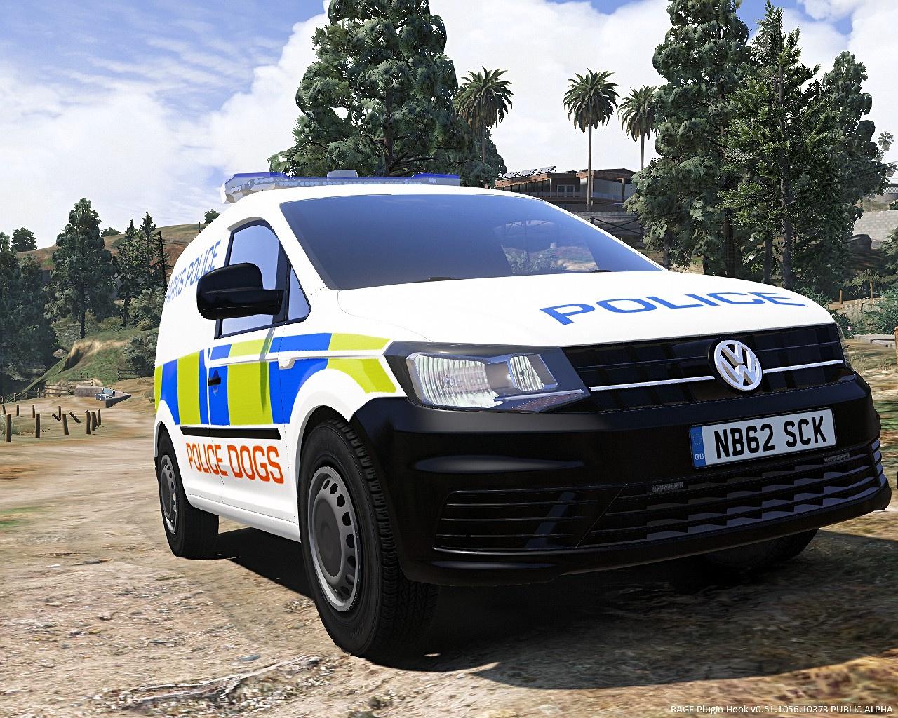 parks police skin for volkswagen caddy lightbar version gta5. Black Bedroom Furniture Sets. Home Design Ideas