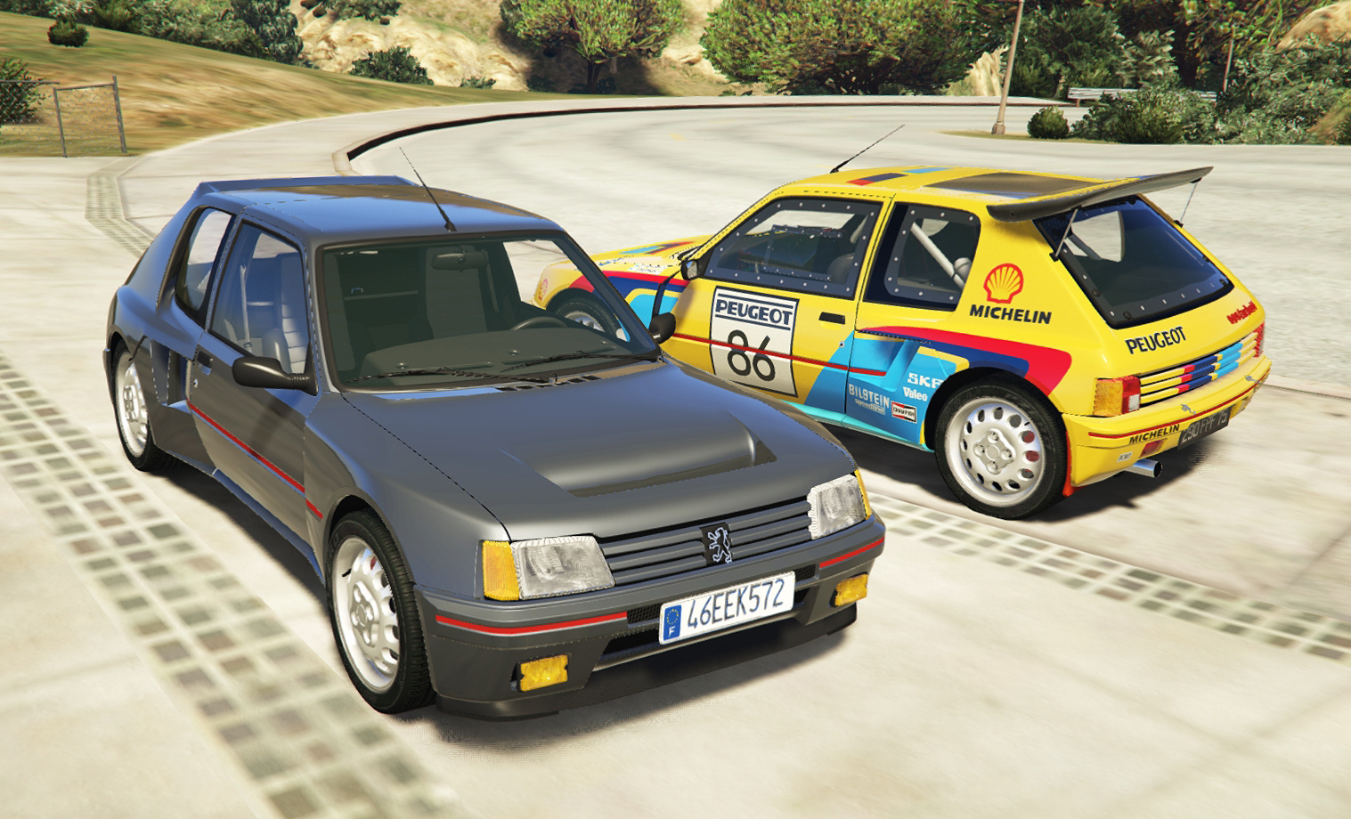 peugeot 205 turbo 16 2 cars pack add on tuning livery gta5. Black Bedroom Furniture Sets. Home Design Ideas