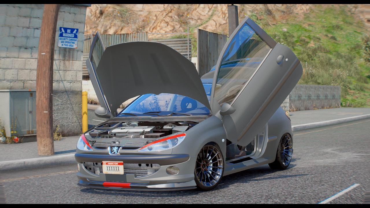 Peugeot 206 Add On Tuning Replace Gta5 Mods Com