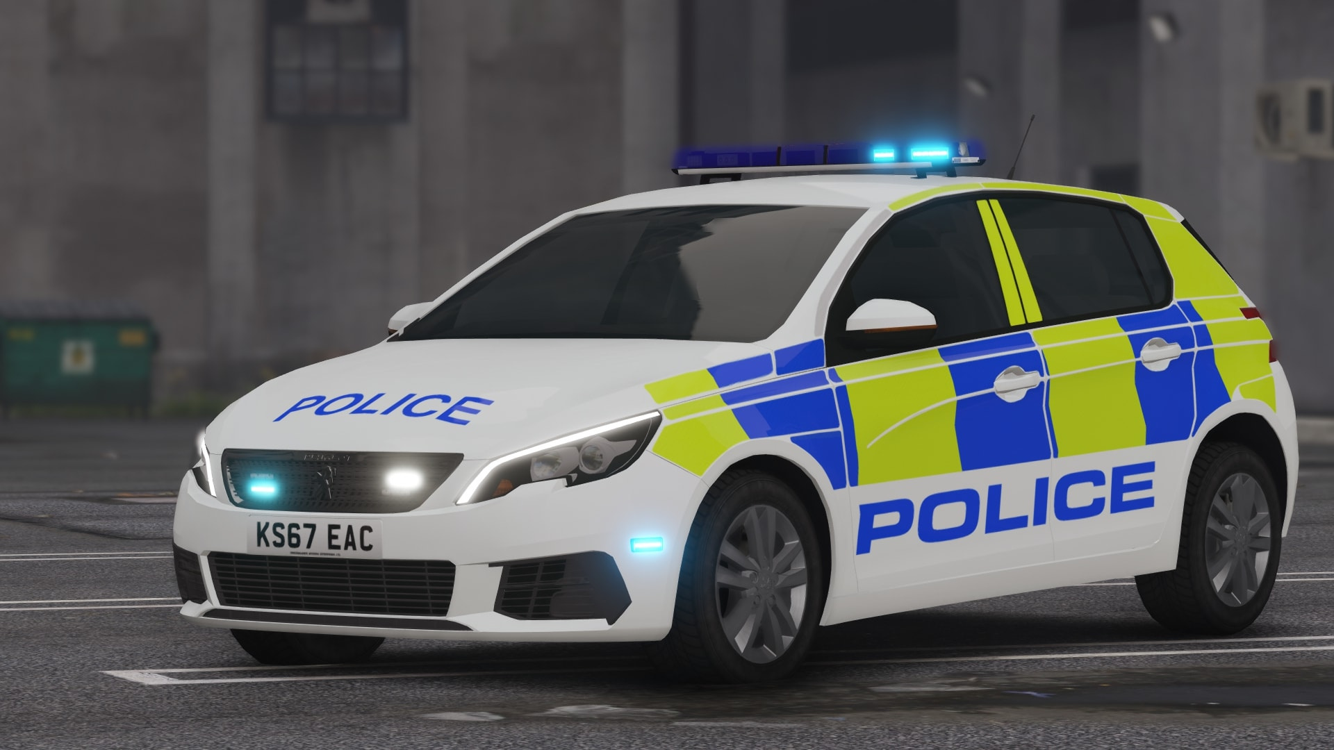 Peugeot 308 Greater Manchester Police [ELS] - GTA5-Mods com