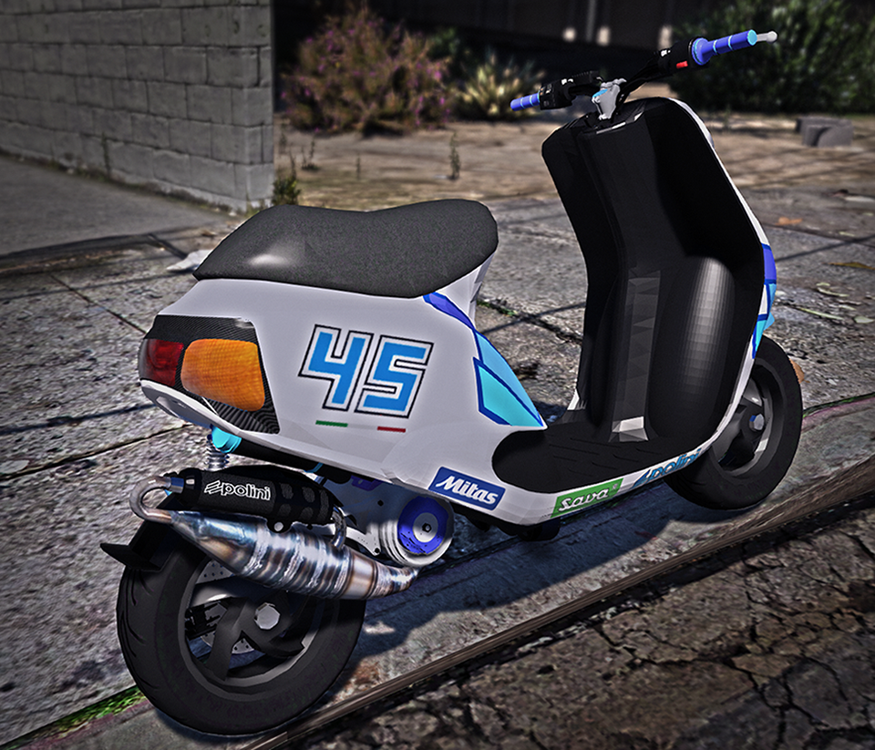 Piaggio Zip Polini Replace Add On Gta5 Mods Com