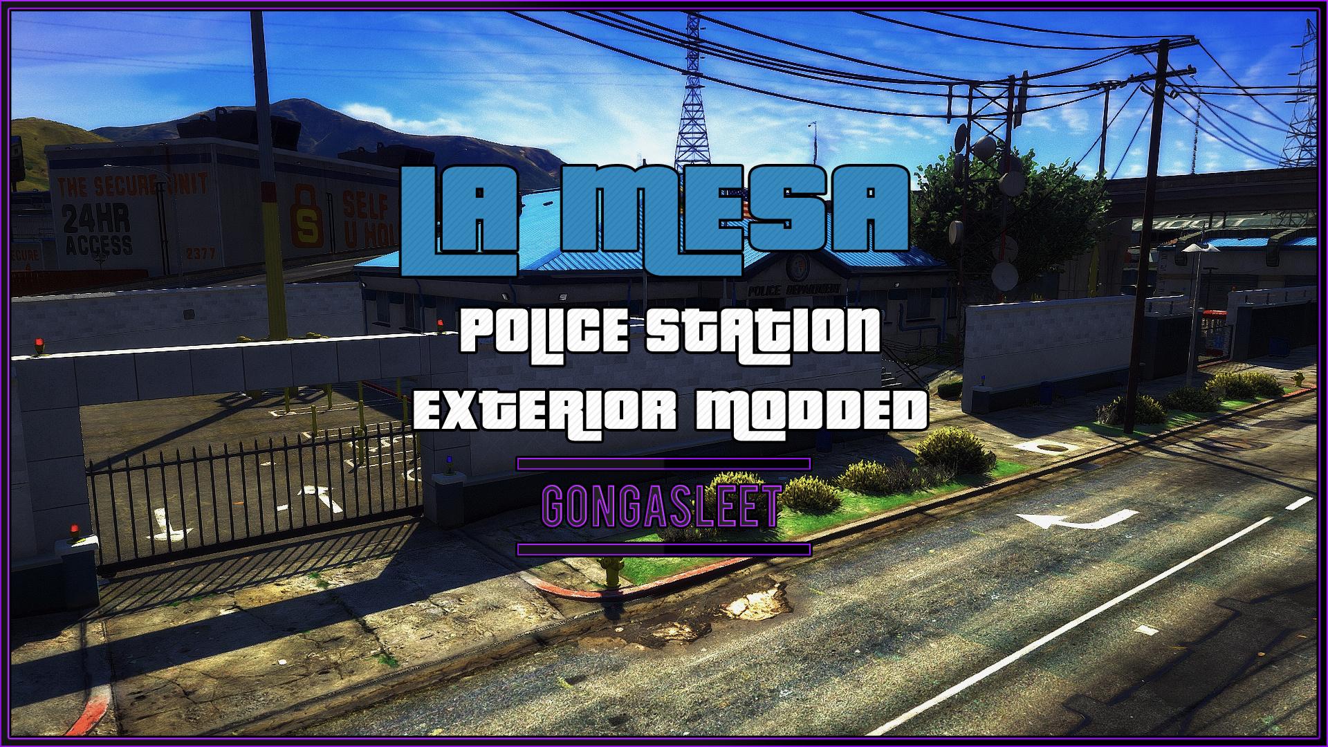 Police Station - La Mesa Exterior Modded [FiveM | SP Menyoo