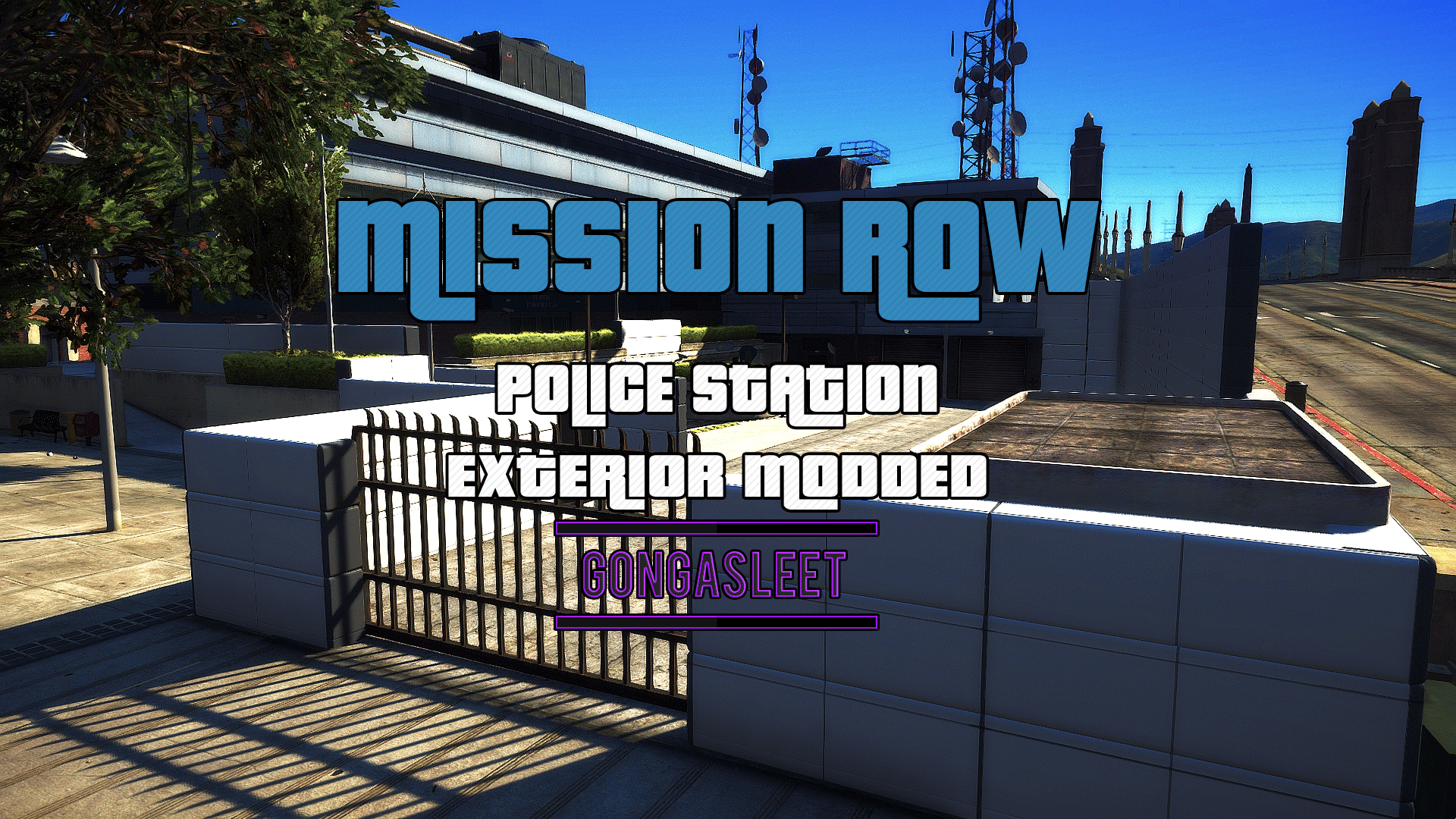 Police Station - Mission Row Exterior Modded [FiveM | SP