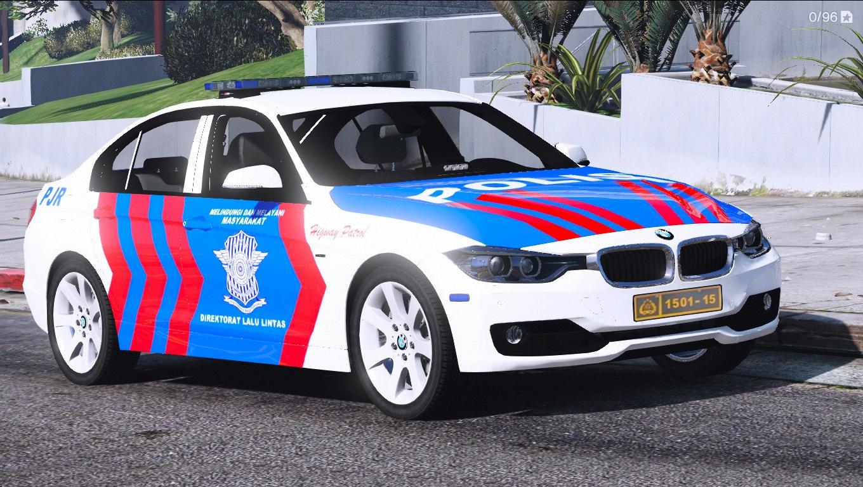 Indonesian Police PJR Livery BMW 330D - GTA5-Mods.com