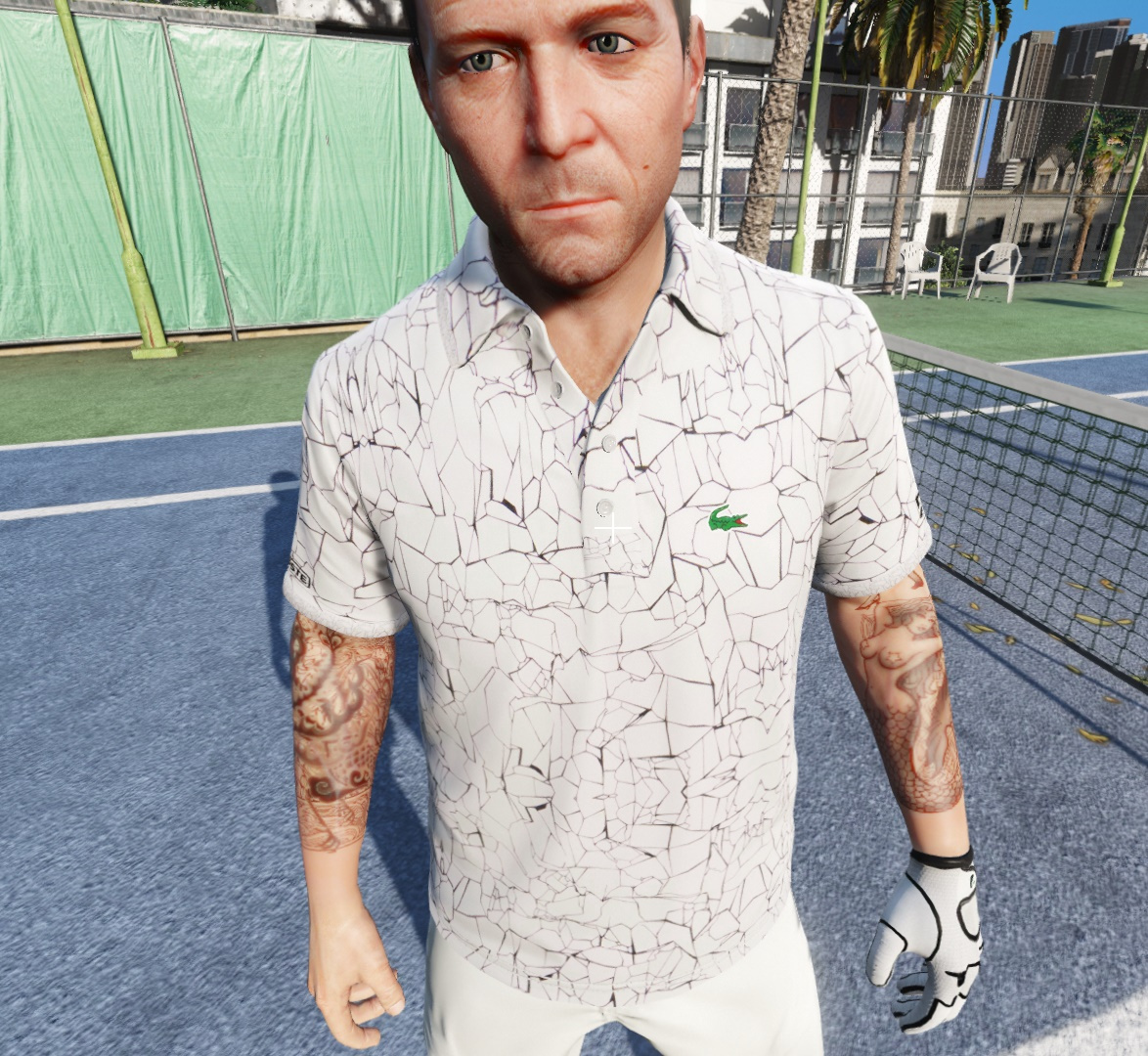 Polo Lacoste Sport Print Technical Jersey X Novak Djokovic On Court Premium Edition Gta5 Mods Com