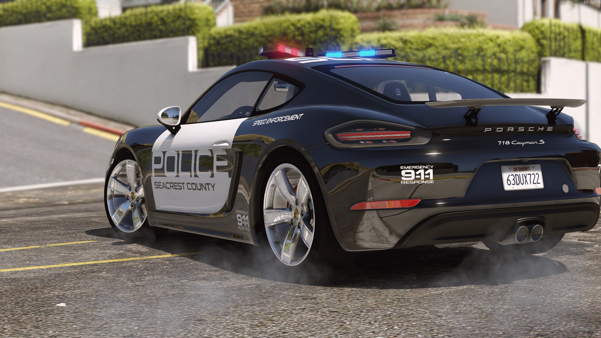 porsche 718 cayman s hot pursuit police add on replace gta5. Black Bedroom Furniture Sets. Home Design Ideas