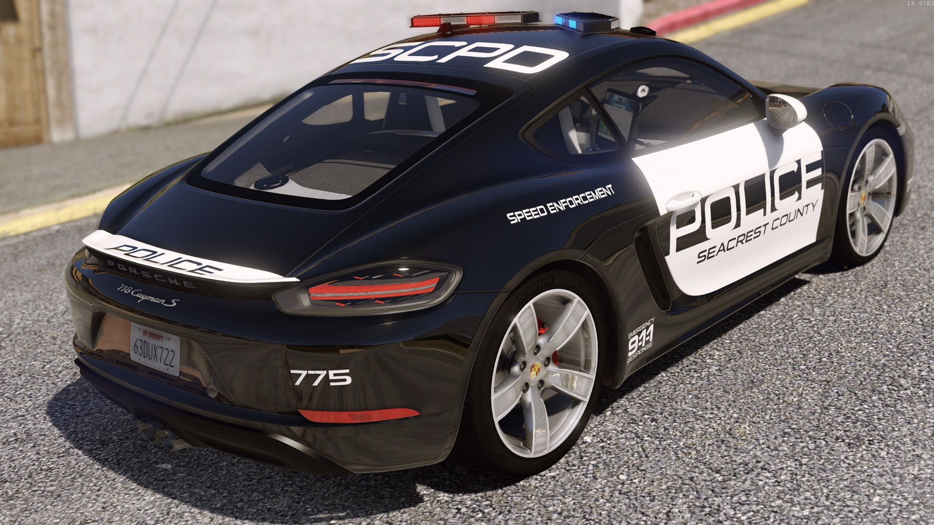 Porsche 718 Cayman S | Hot Pursuit Police [Add-On / Replace