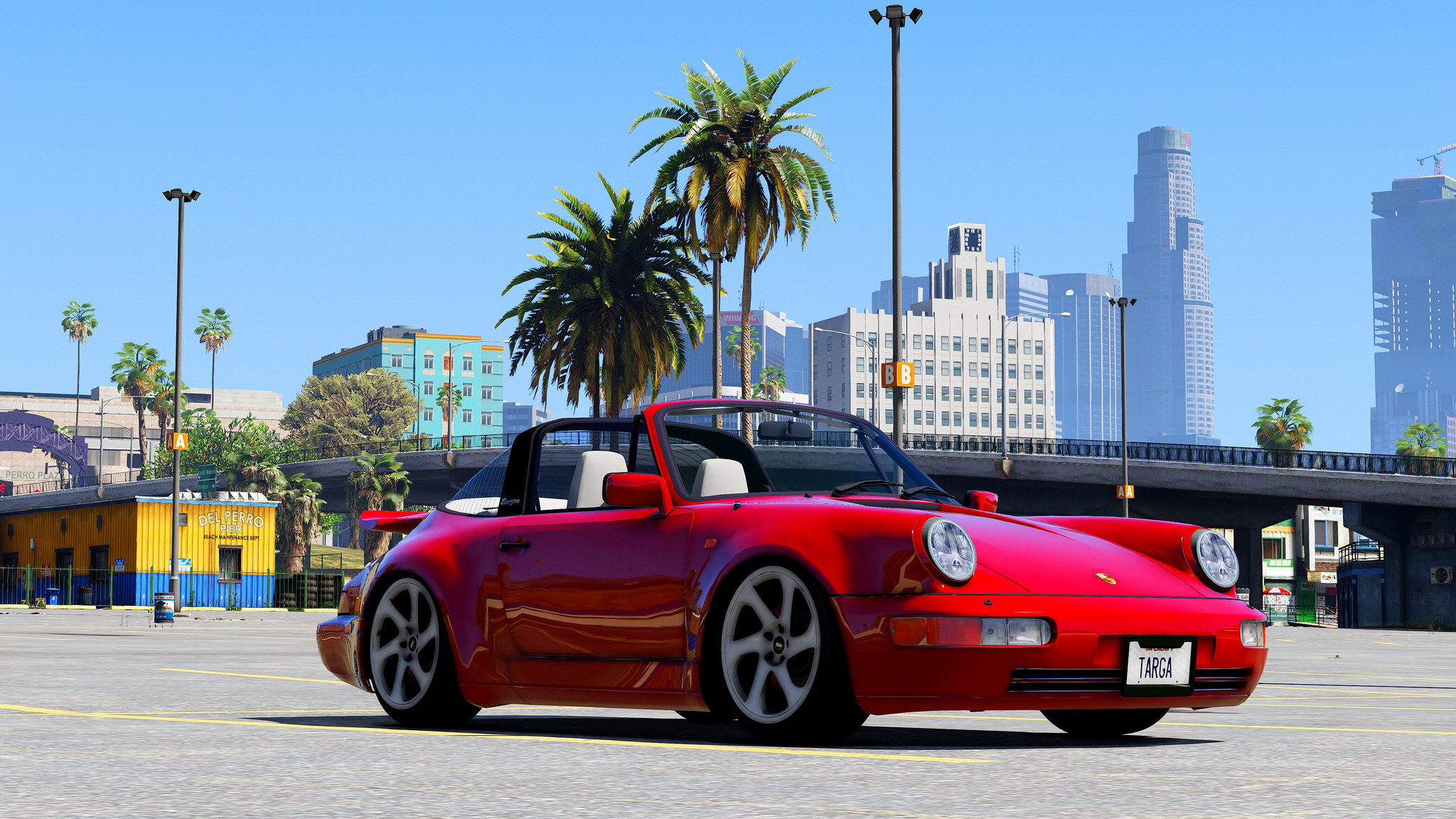 porsche 911 964 targa cabrio add on replace gta5. Black Bedroom Furniture Sets. Home Design Ideas