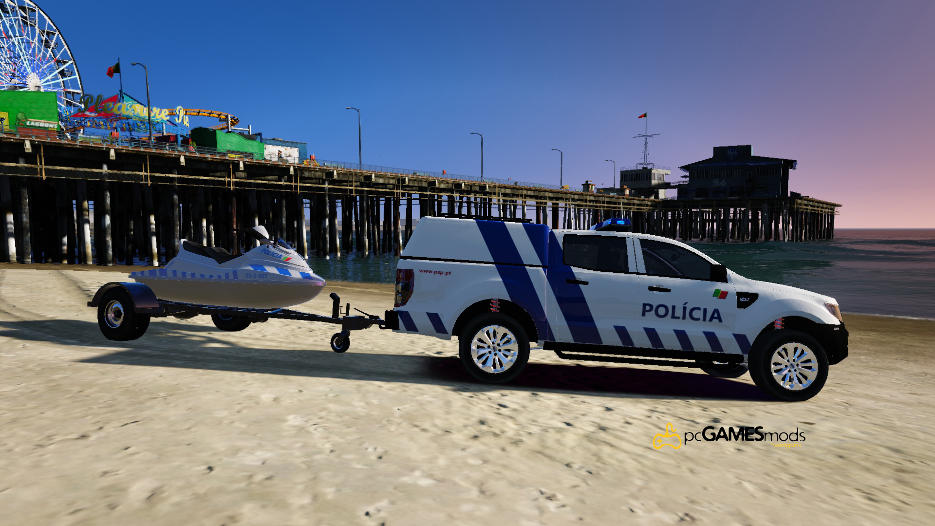portuguese public security police jetski trailer add on gta5. Black Bedroom Furniture Sets. Home Design Ideas