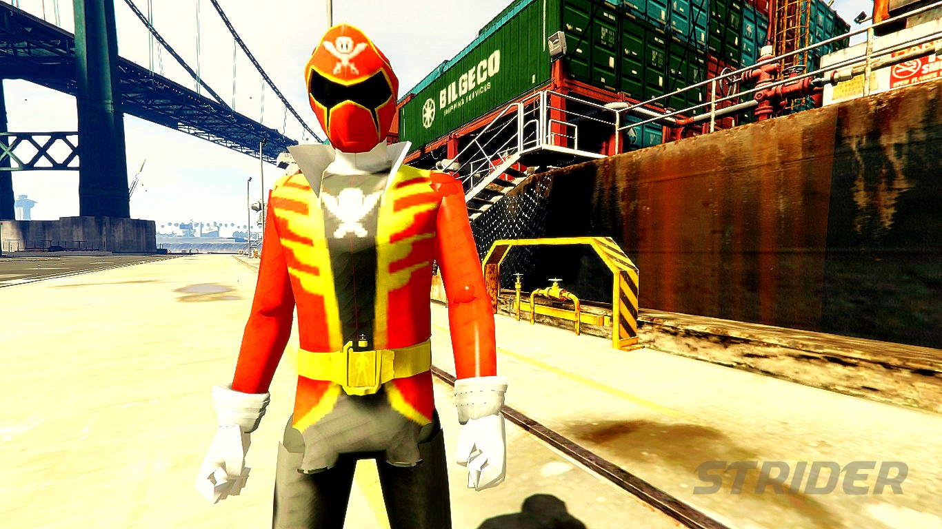 power ranger red super mega force gta5