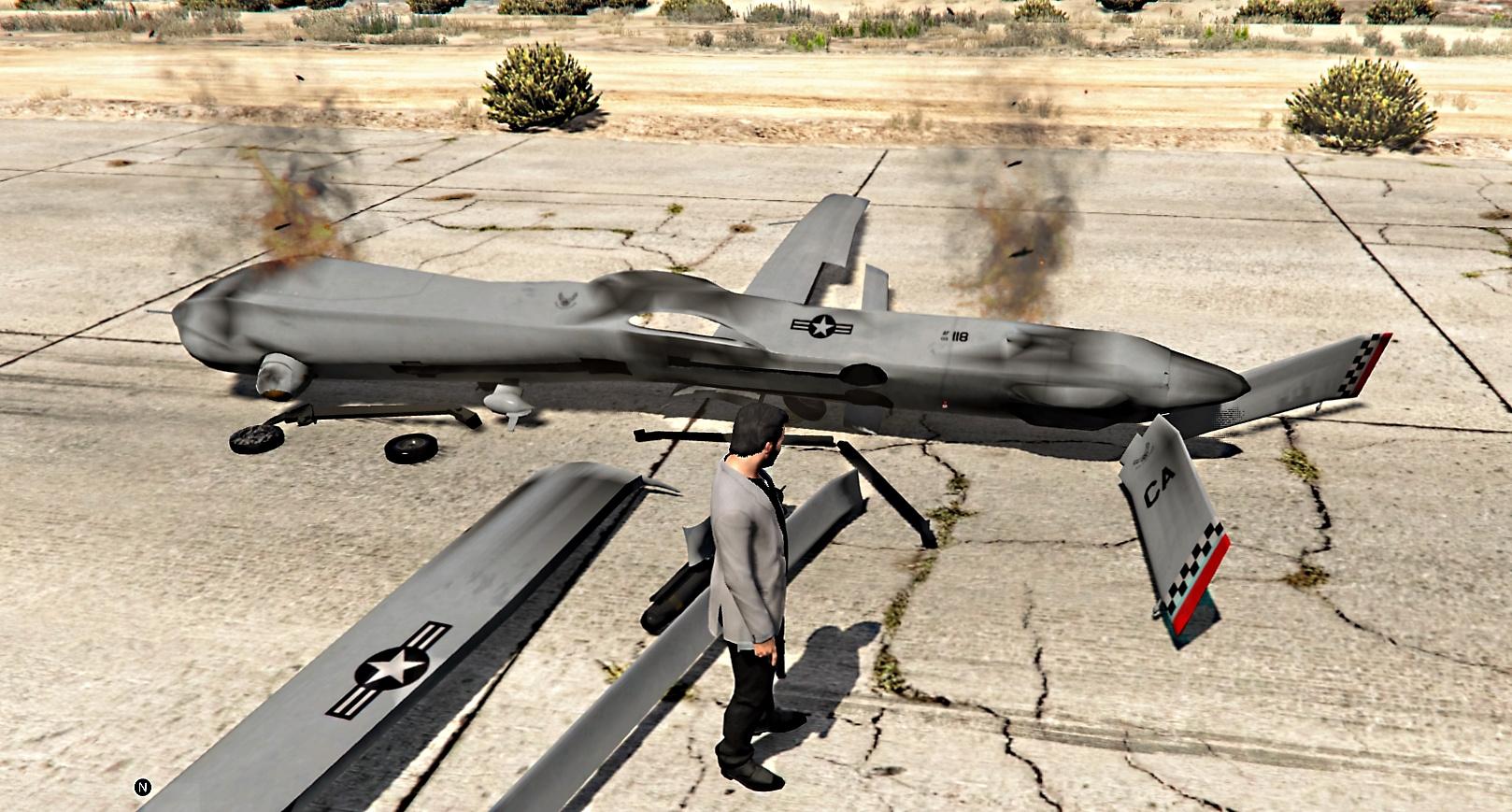 Predator Mq 1 Drone Hq Add On Gta5 Mods Com