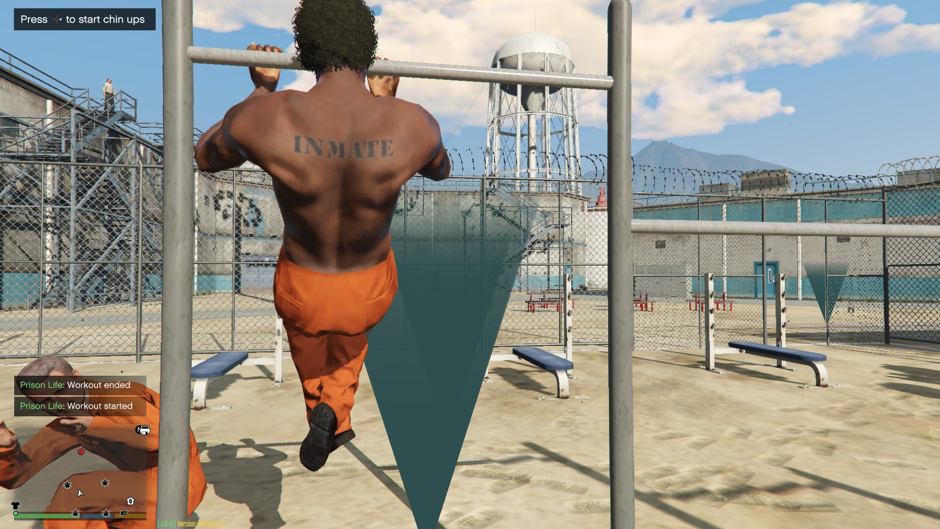 Prison life gang system workout at gym jobs and more for Gimnasio 360 life
