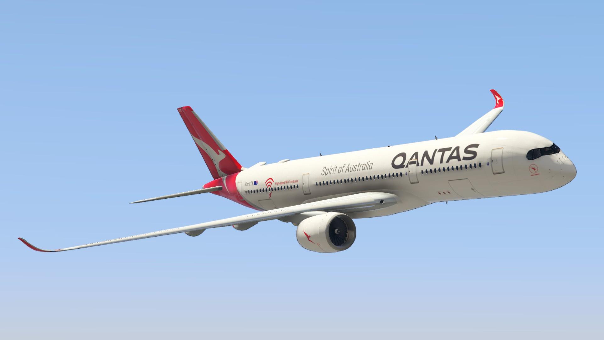 Qantas Airbus A350 Gta5 Mods Com