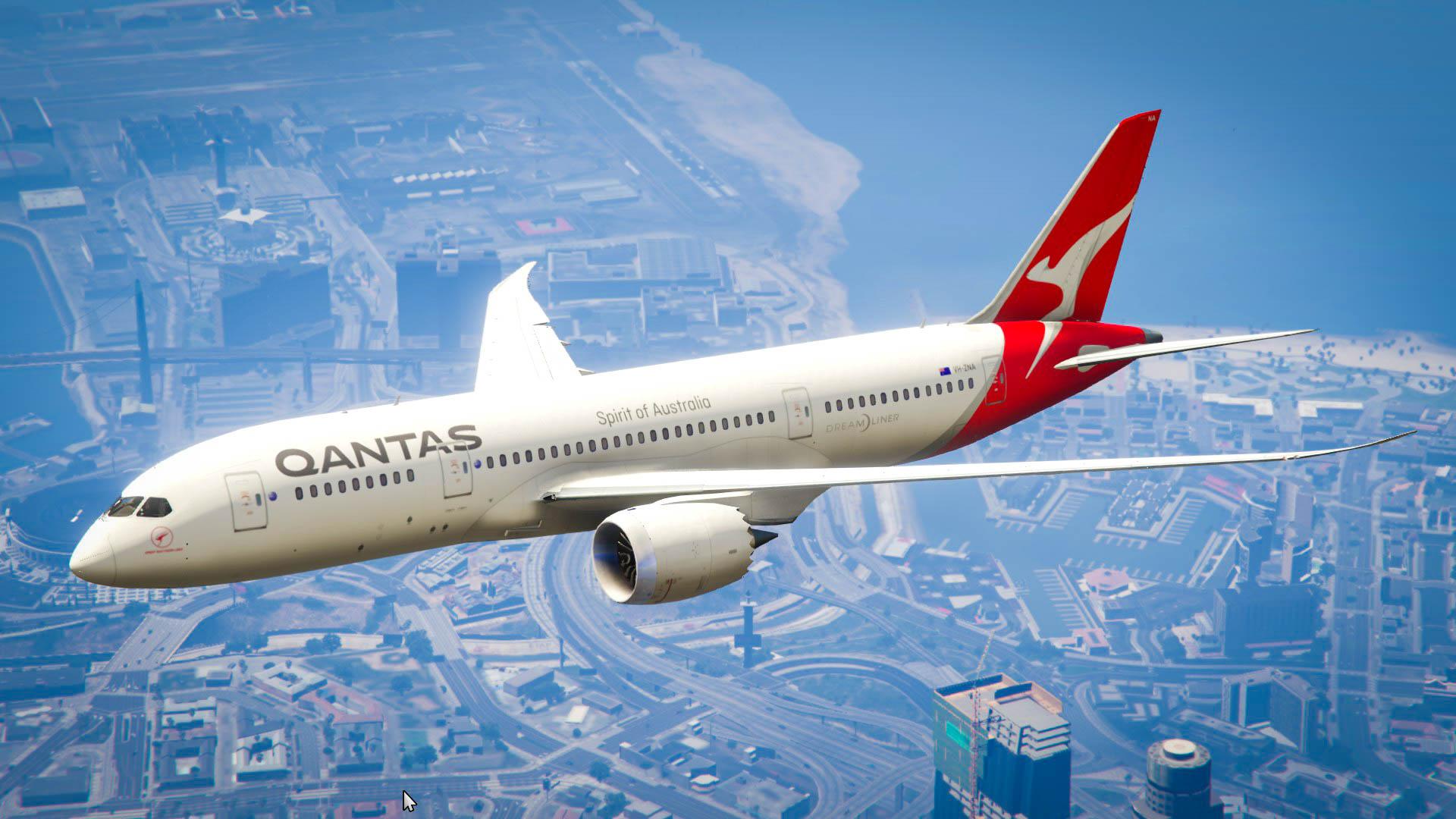 Qantas Boeing 787 Dreamliner - GTA5-Mods com