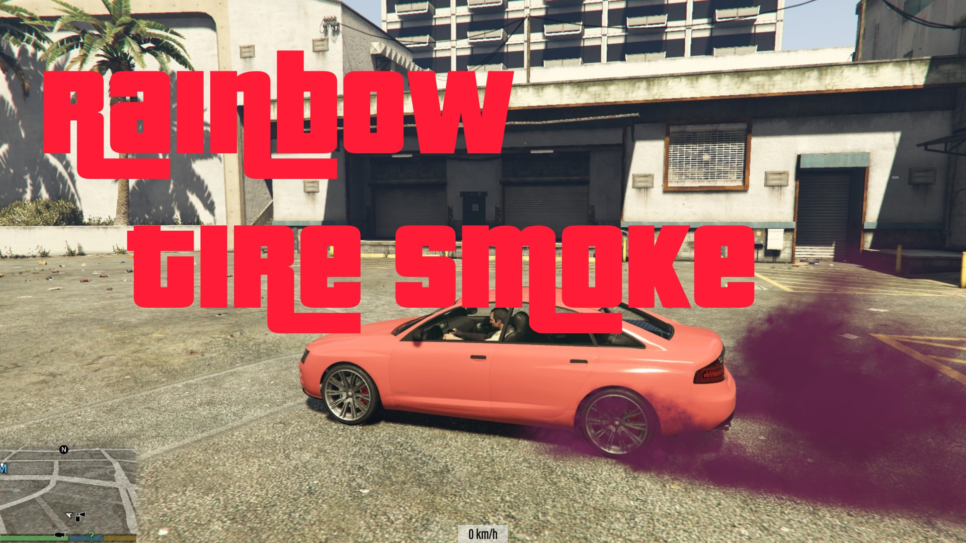 Rainbow Tire Smoke GTA5 Mods