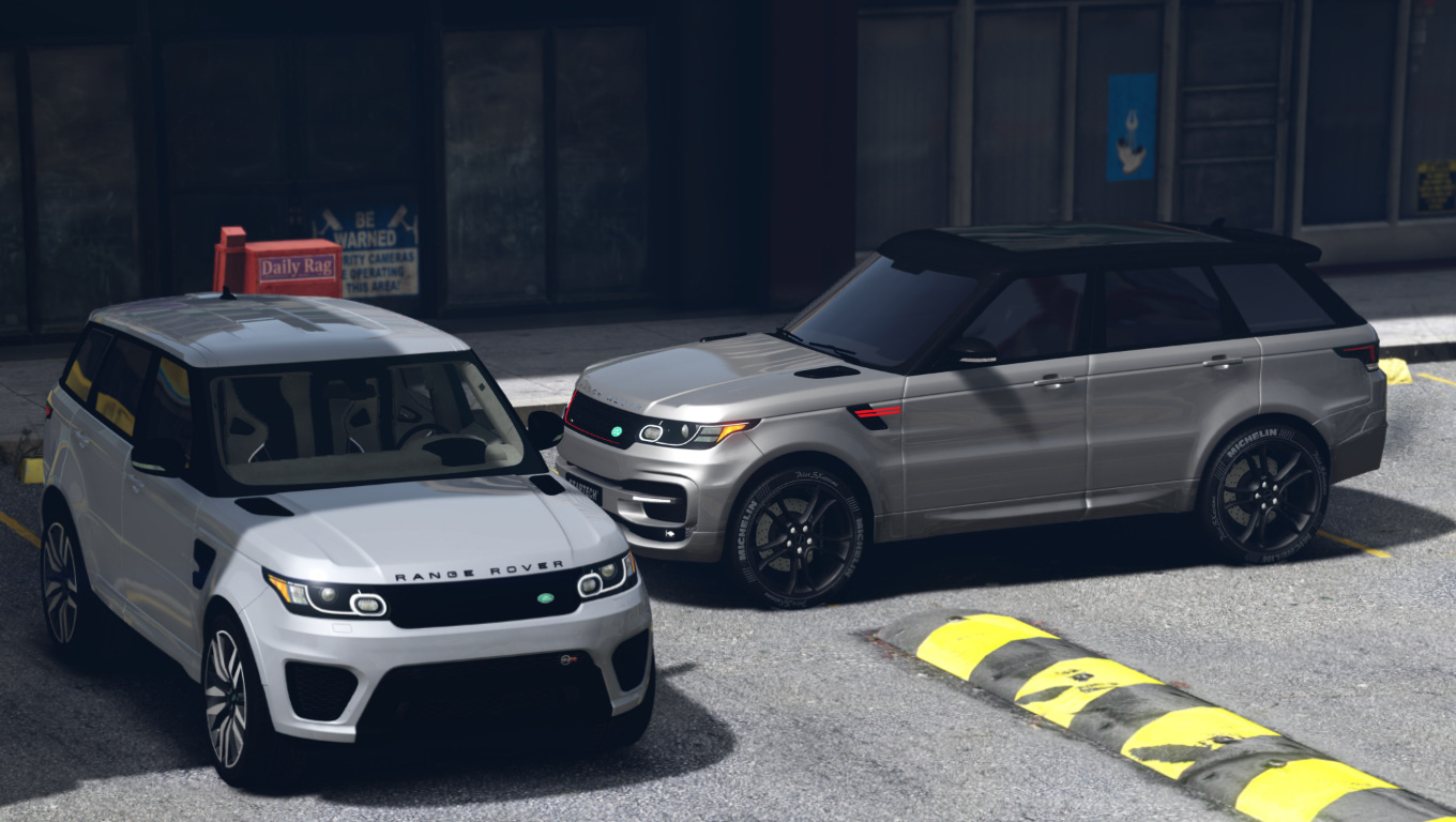 range rover sport svr 2016 animated templated add on gta5. Black Bedroom Furniture Sets. Home Design Ideas
