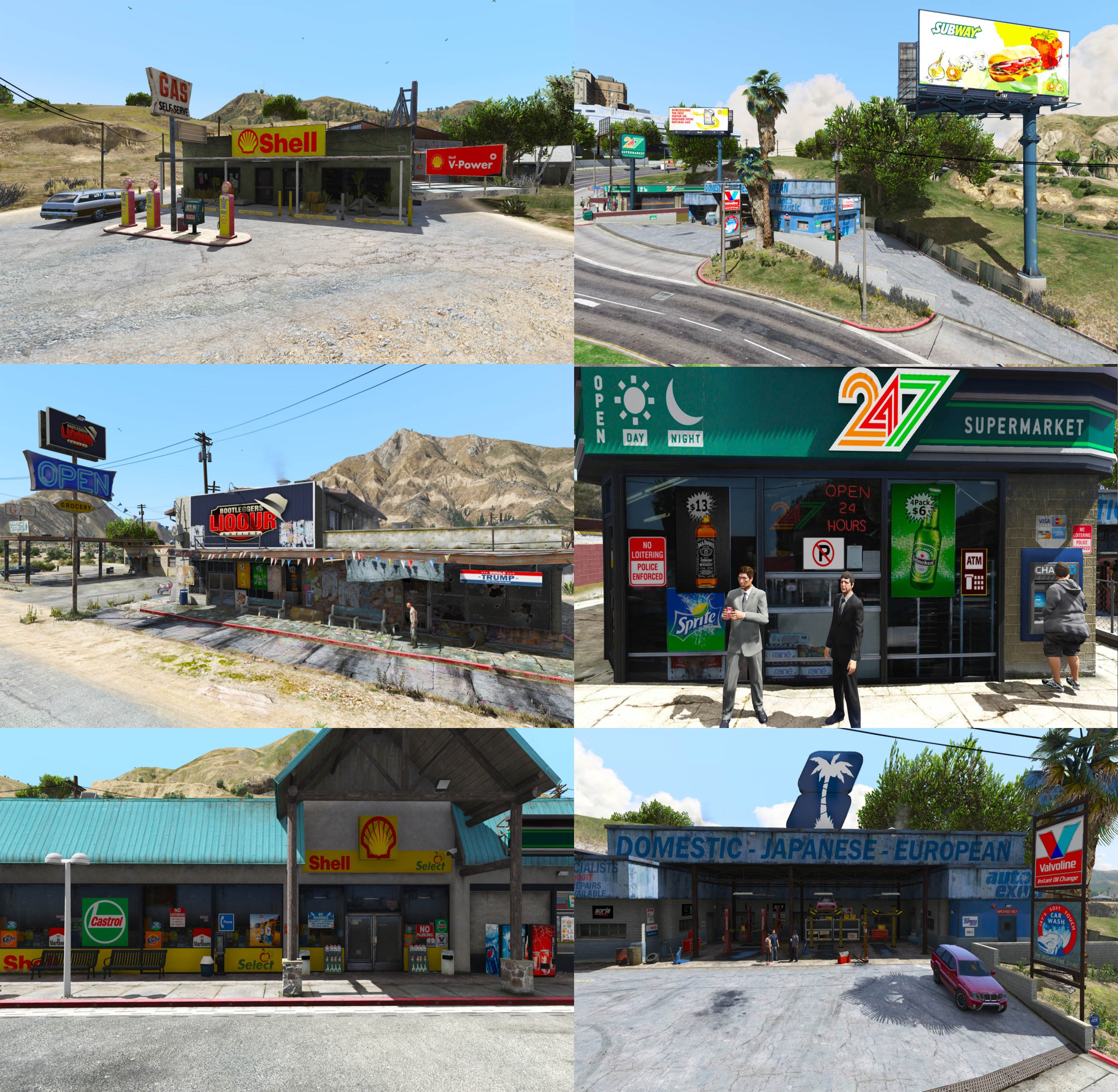 Gta 5 Garage: Real Petrol Stations