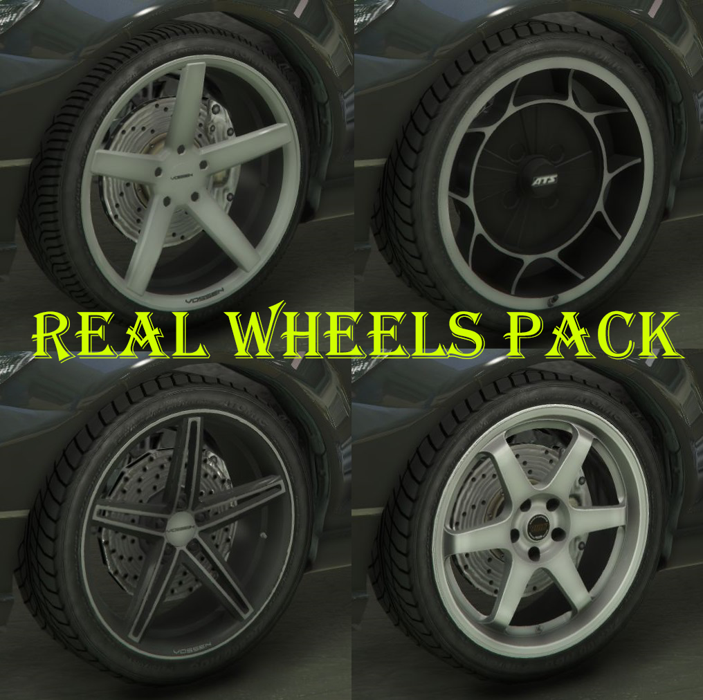 Real Brand Rims Pack Gta5 Mods Com