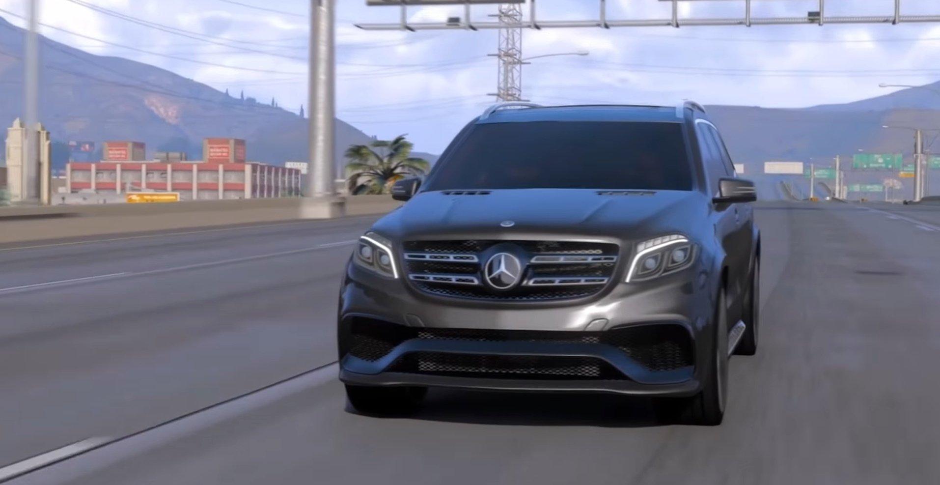 Realistic Handling Engine Sound For Mercedes Gls 63 Amg Top Speed