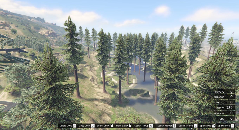 redwood forest 250 redwoods gta5 mods com