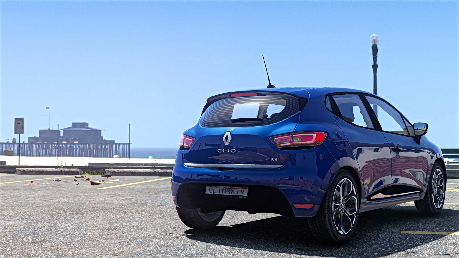 renault clio 4 facelift replace add on gta5. Black Bedroom Furniture Sets. Home Design Ideas