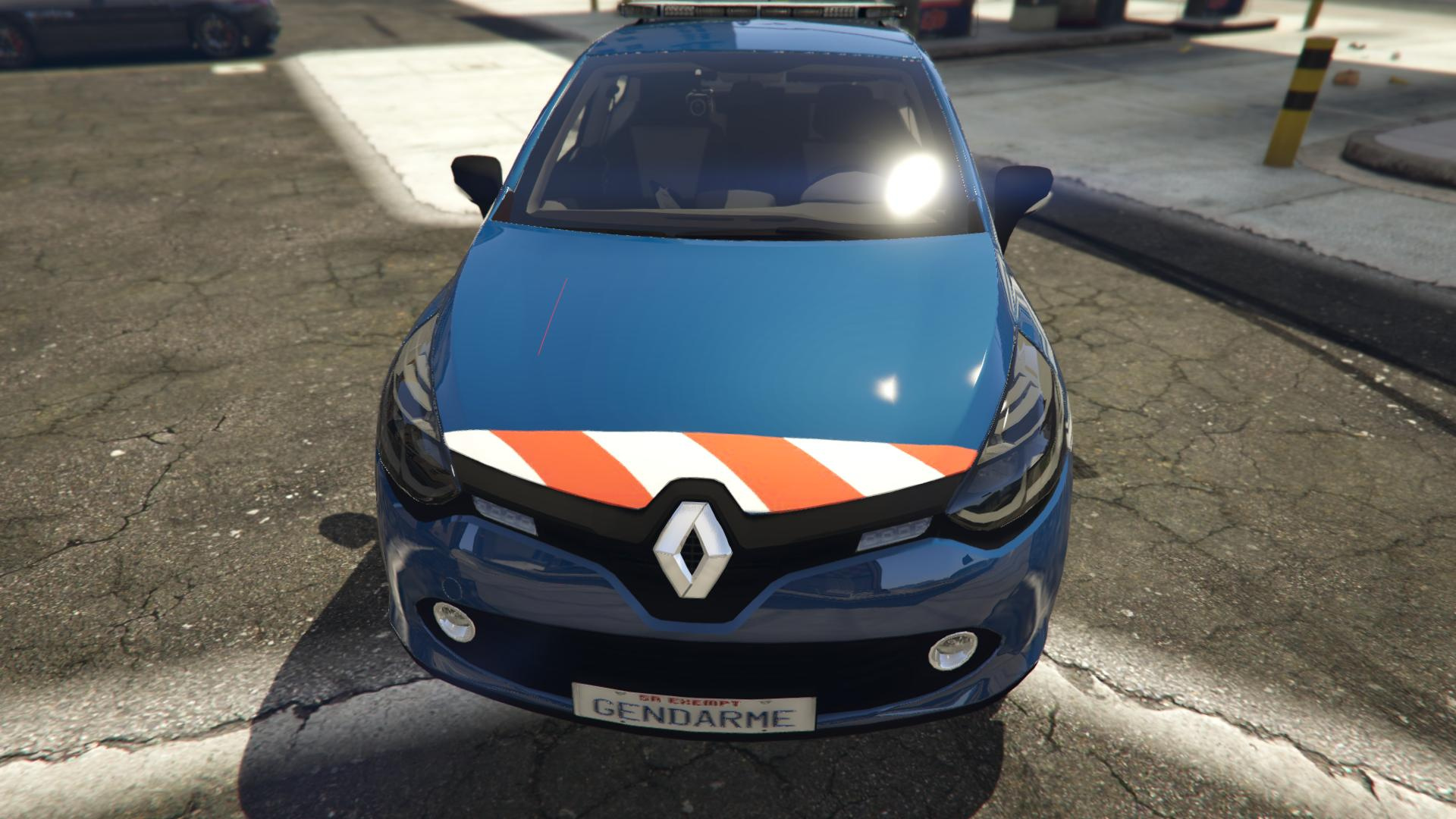 renault clio 4 gendarmerie bande rouge gta5. Black Bedroom Furniture Sets. Home Design Ideas
