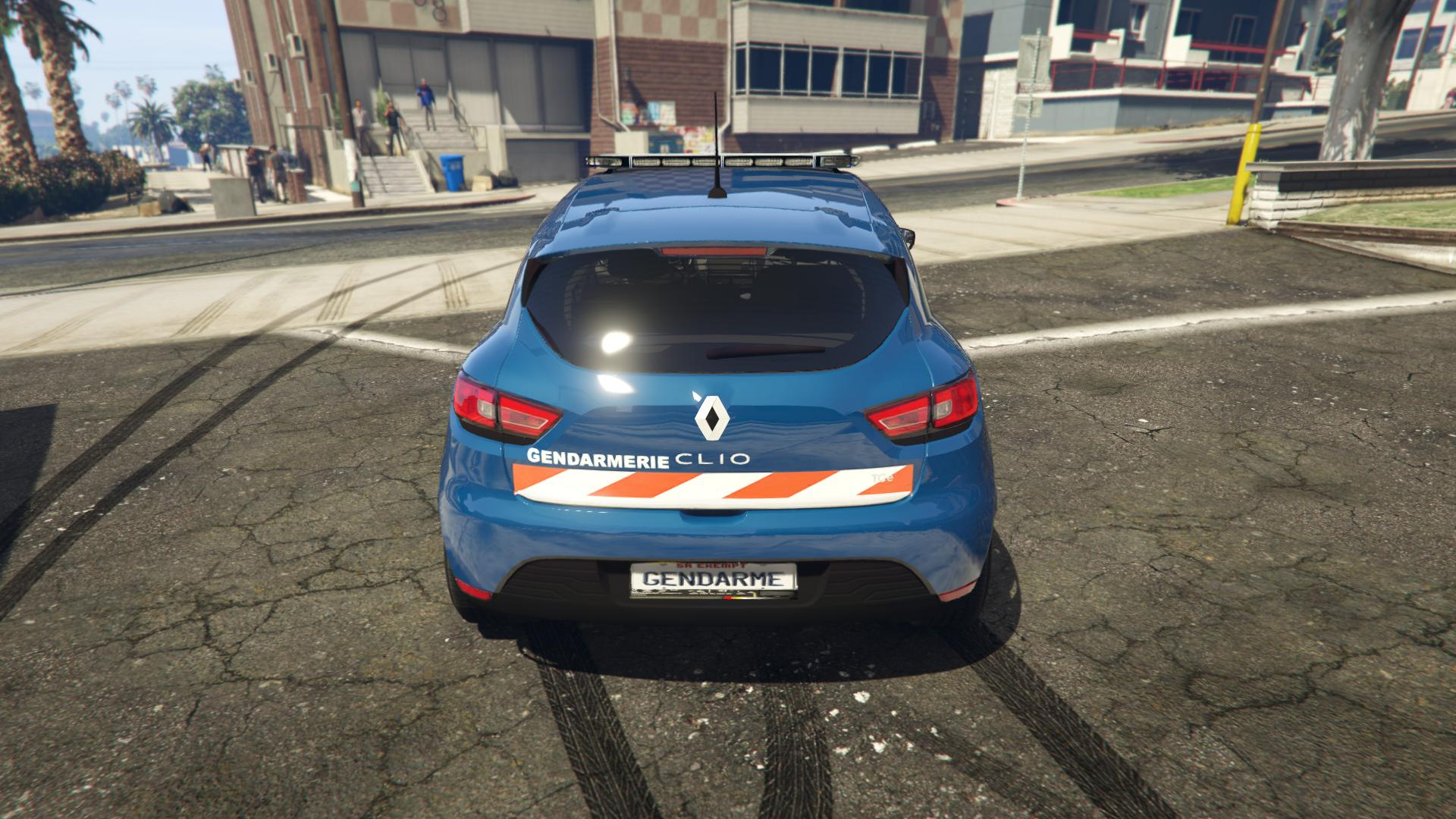 renault clio gendarmerie bande rouge gta5. Black Bedroom Furniture Sets. Home Design Ideas