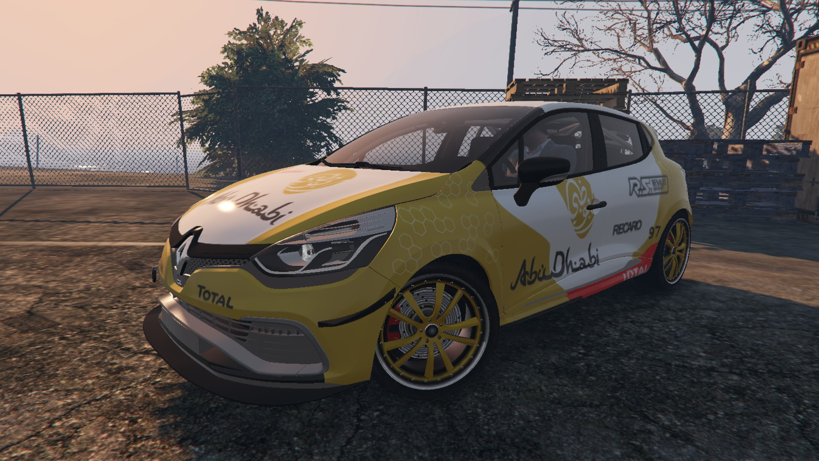 renault clio rs livery abu dhabi wrc design paintjob. Black Bedroom Furniture Sets. Home Design Ideas