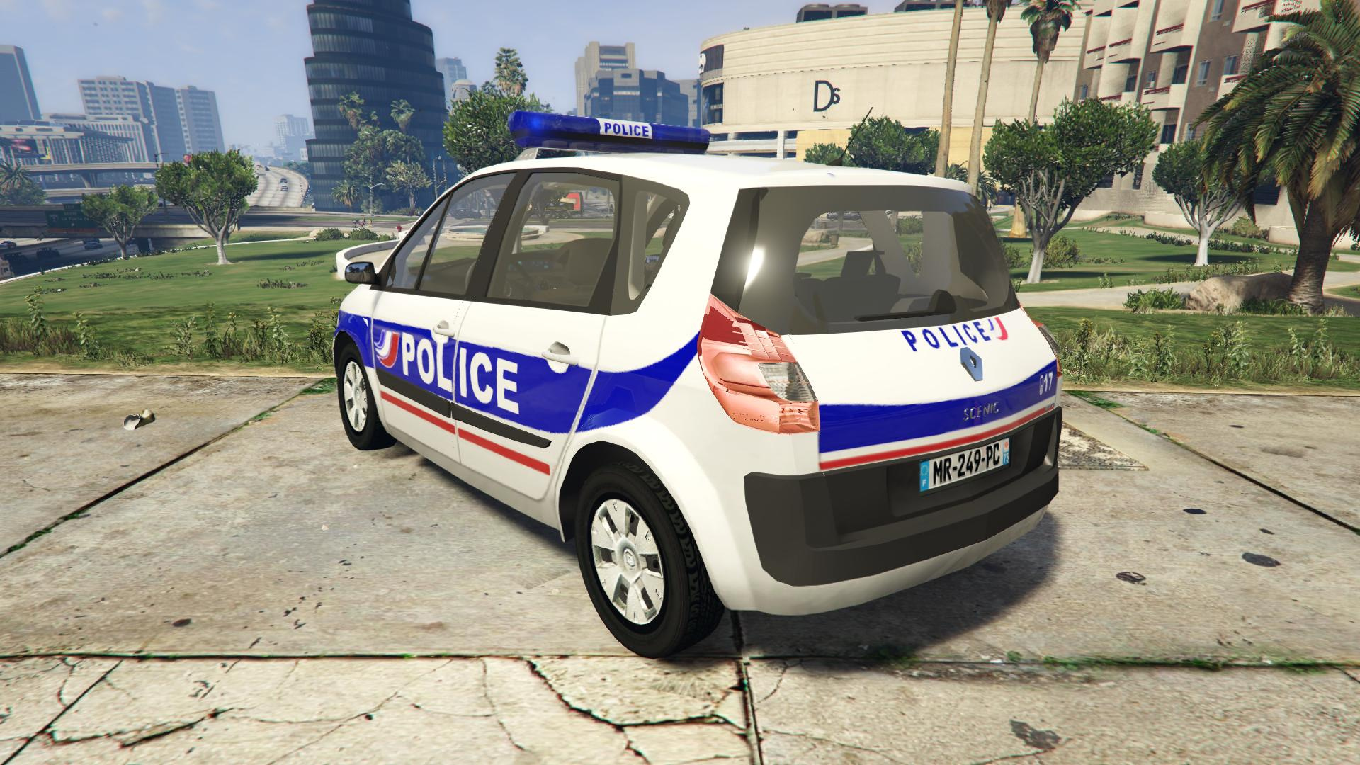 renault scenic ii police nationale gta5. Black Bedroom Furniture Sets. Home Design Ideas