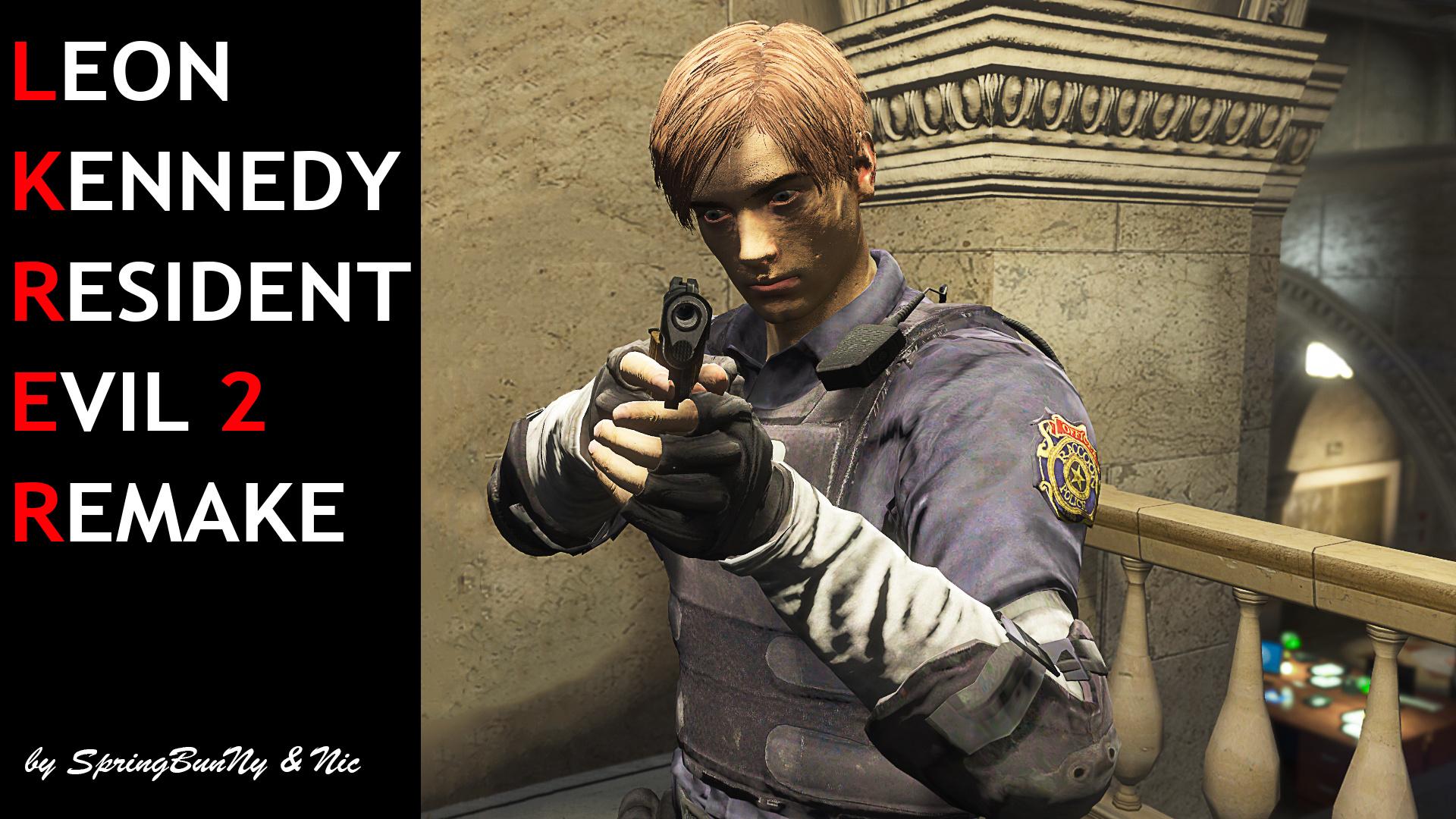 Resident Evil 2 Leon Kennedy Remake Gta5 Mods Com