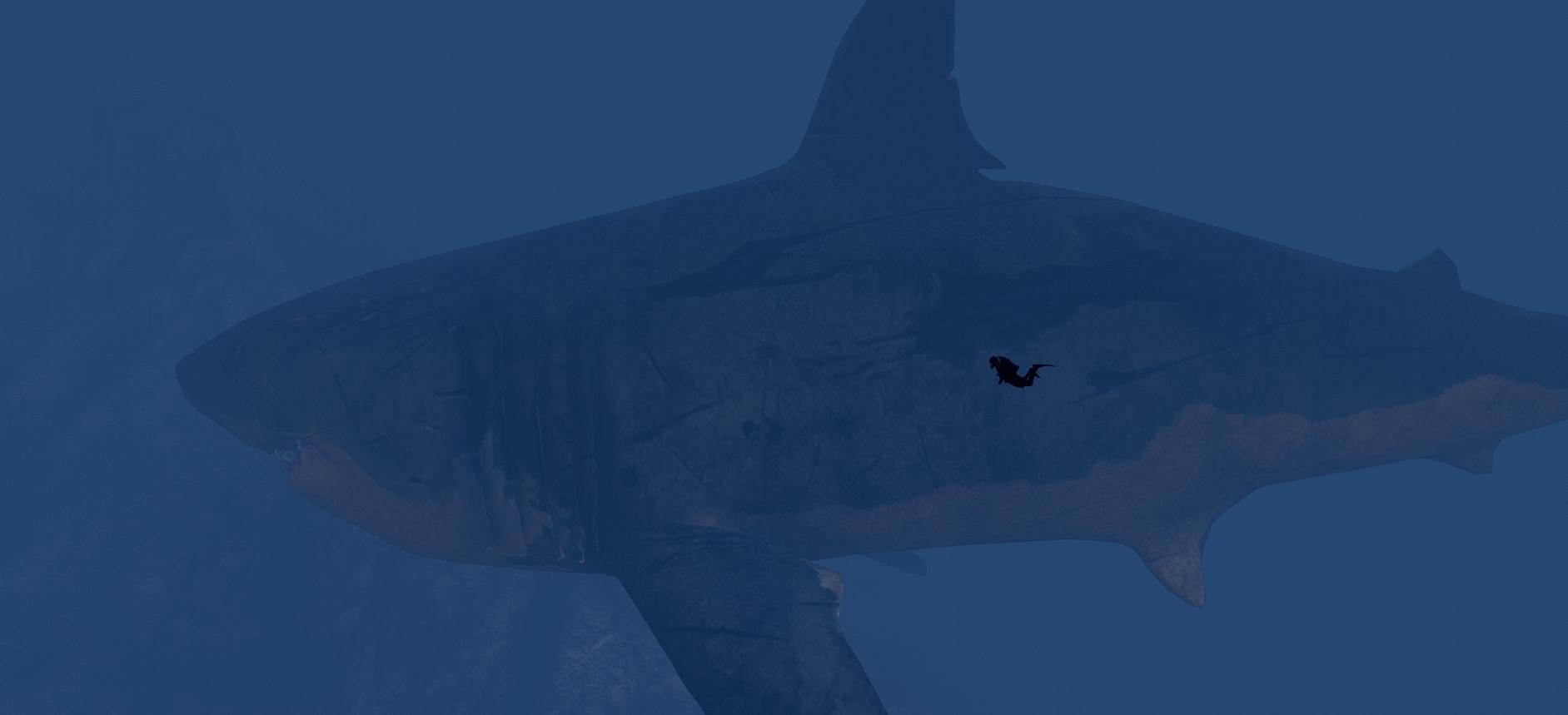Resized Megalodon Shark [MEG: Monster of the Depth] - GTA5