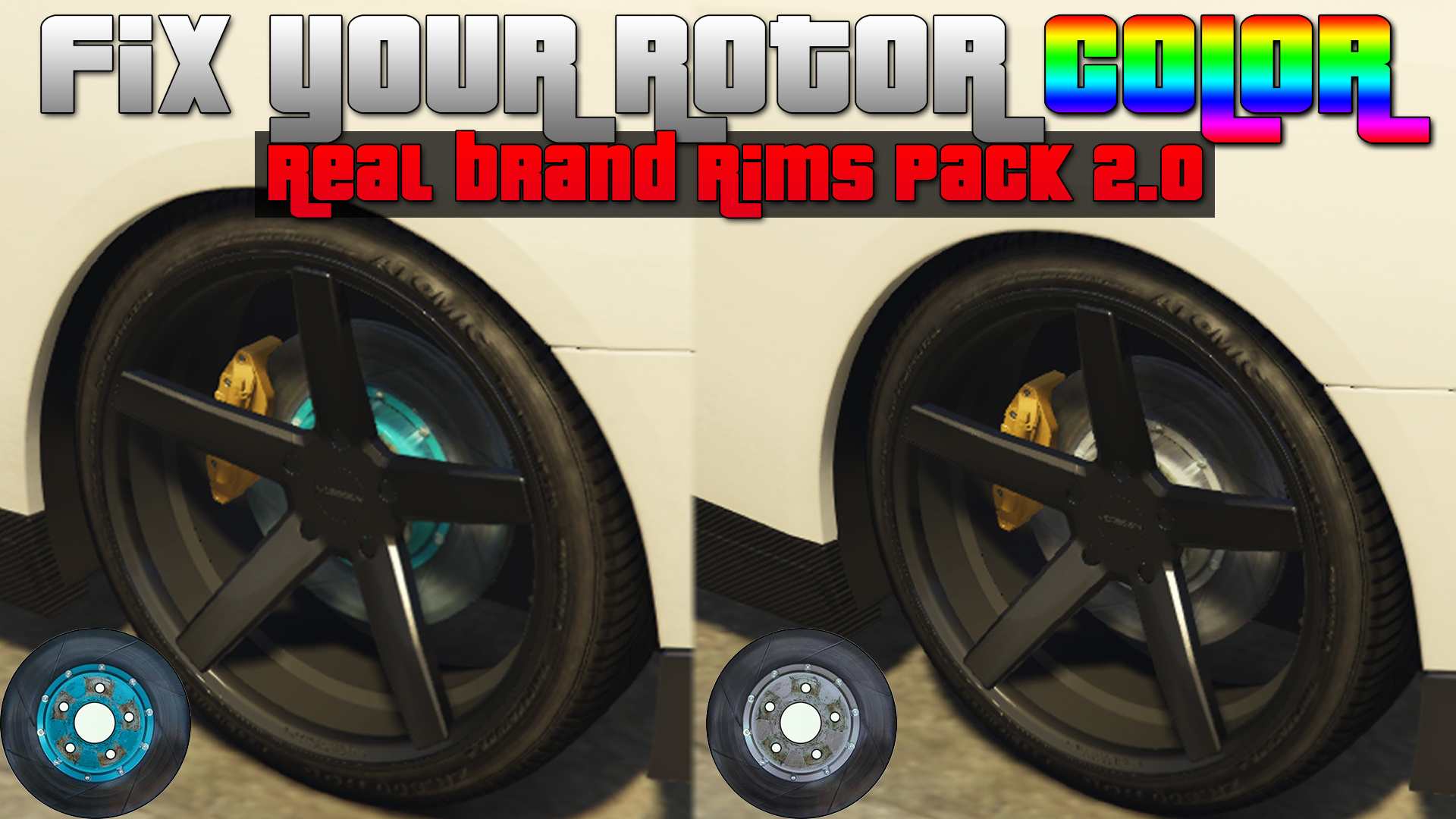 Blue Rotor Color Fix For Real Brand Rims Pack