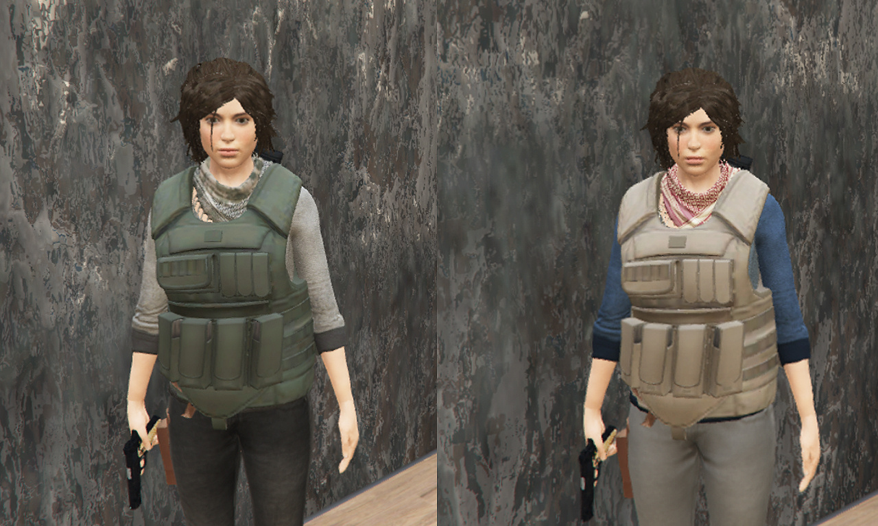 Shadow Of The Tomb Raider Lara Croft enhanced textures + wardrobe