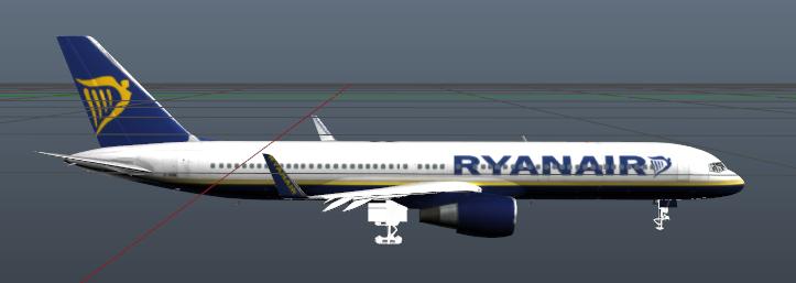 ryanair texture of 737 for b757 200 gta5 mods com