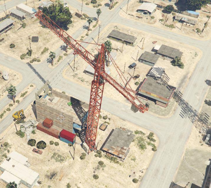 Construction Site Map: Sandy Shores Construction Site [Map Editor] [Five M