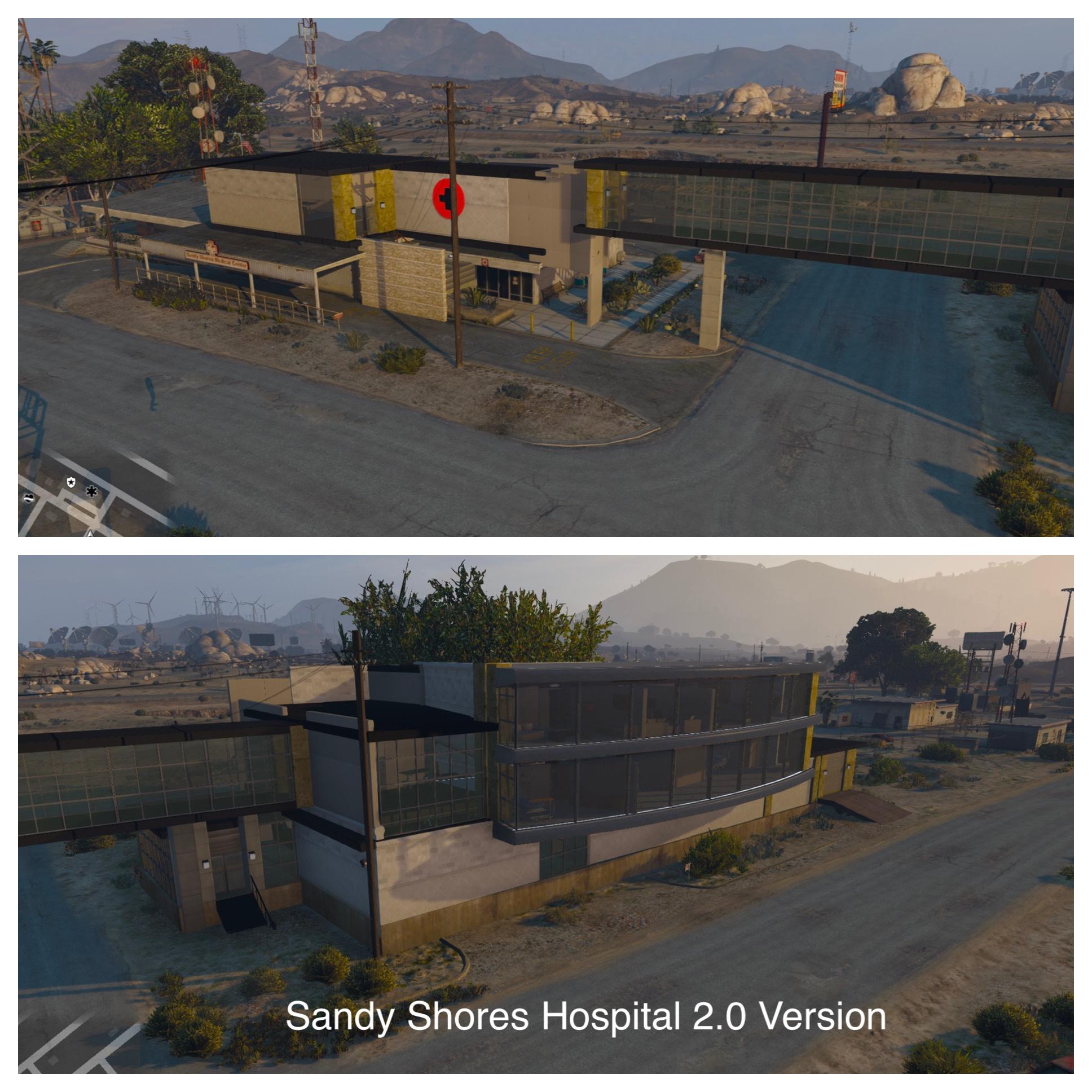 Sandy Shores Hospital [Five M Friendly] [Map Editor] - GTA5-Mods com