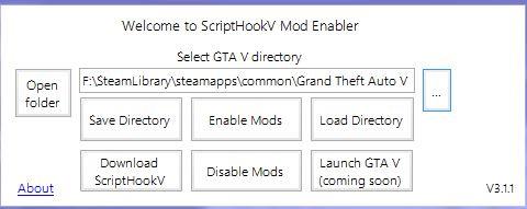ScriptHookV Mod Enabler - GTA5-Mods com