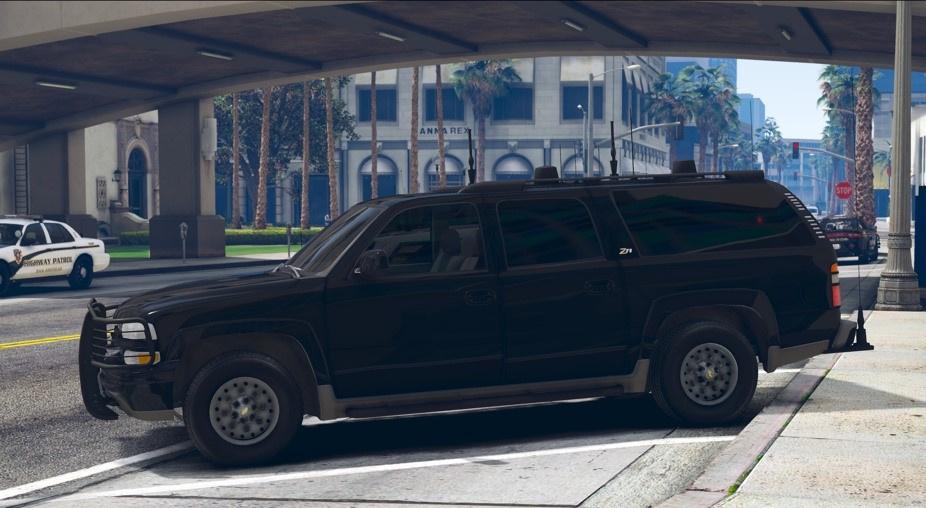 secret service 2003 chevrolet suburban z71 replace unlocked gta5 mods com gta5 mods com