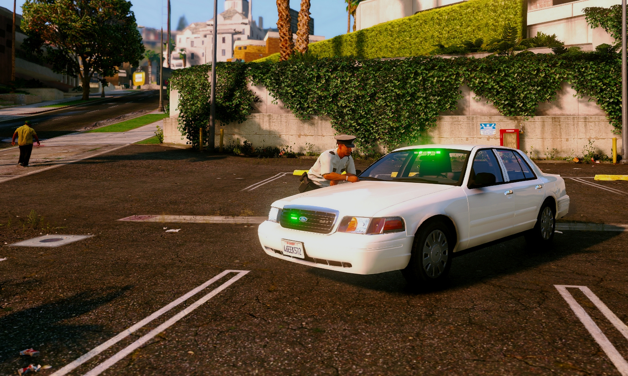 Security Crown Victoria Green Lights Gta5 Mods
